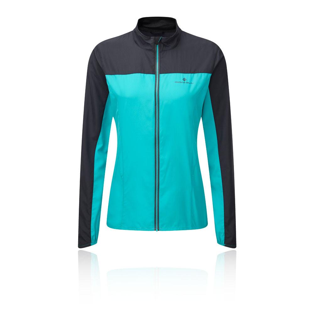 Détails sur Ronhill Femmes Stride Windspeed Veste Sport Blouson Top Noir Vert Jogging Zip