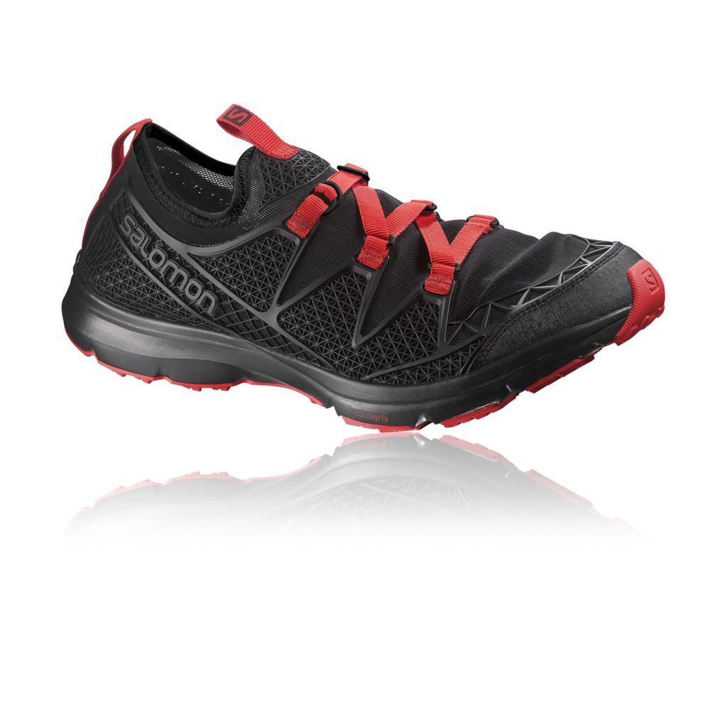 abe1fef51120 Details about Salomon Crossamphibian Mens Red Black Walking Running Sandals  Summer Shoes