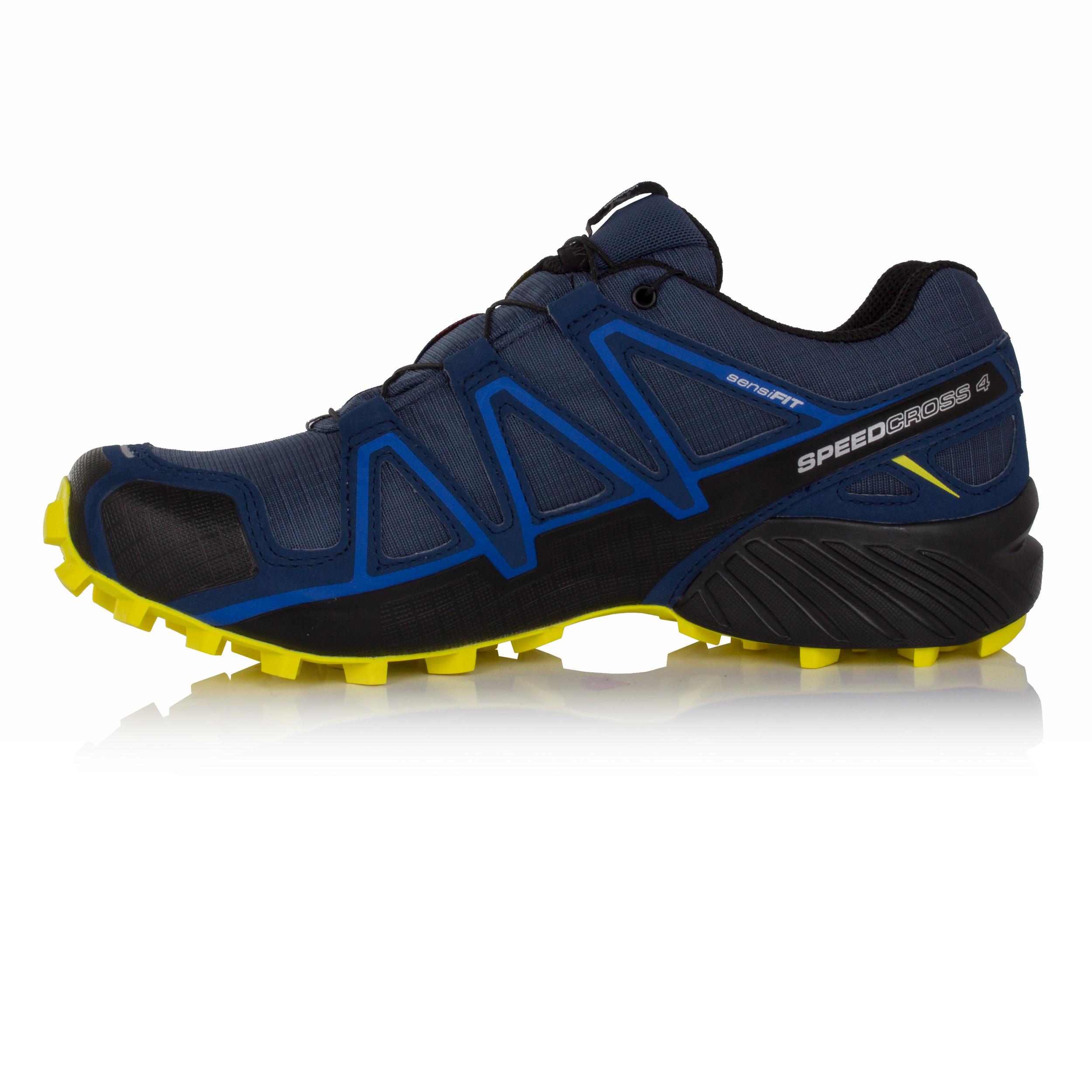 Salomon Speedcross 4 Mens Blue Gore Tex Waterproof Trail Running Shoes
