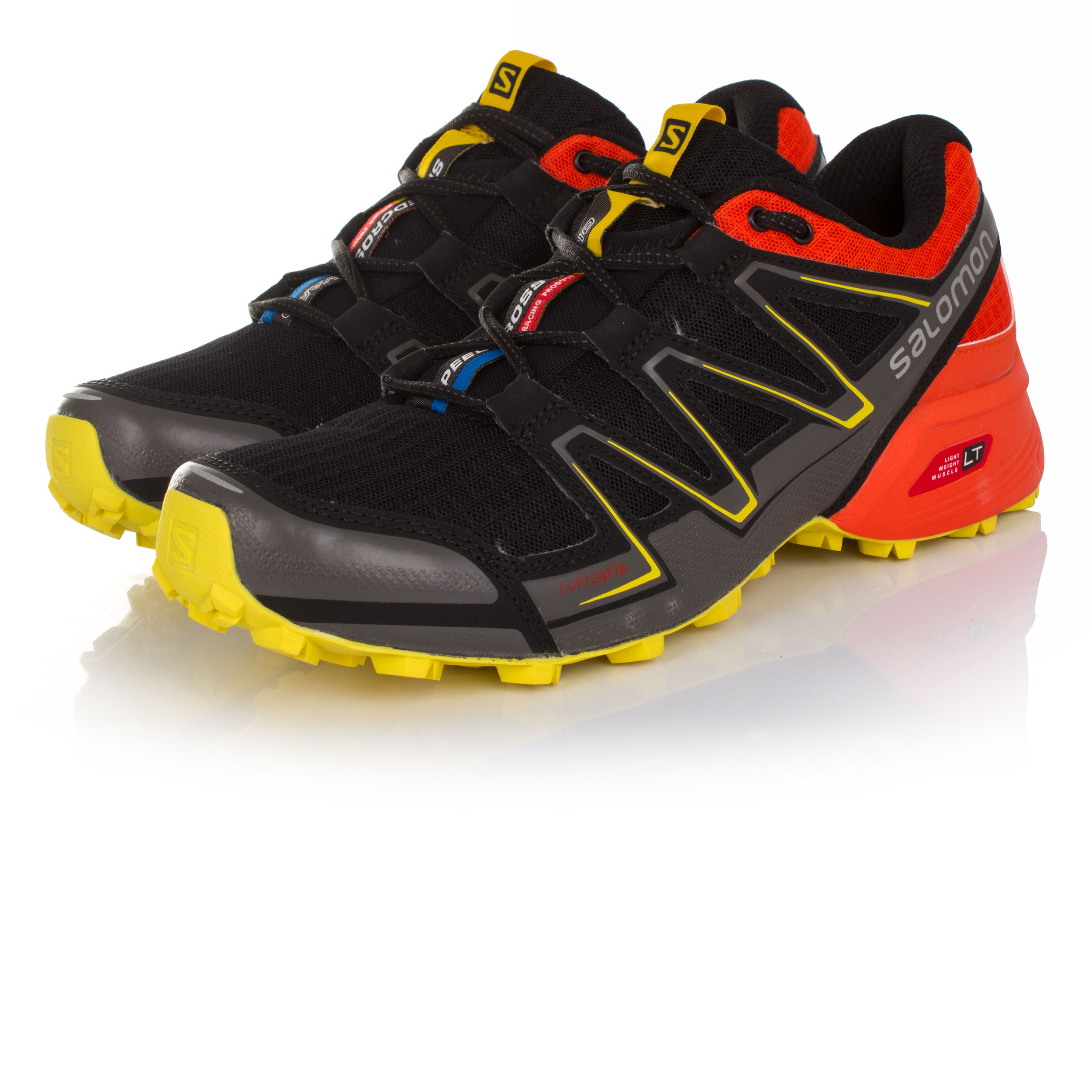 Salomon Speedcross Vario Mens Orange Black Running Sports Shoes Trainers