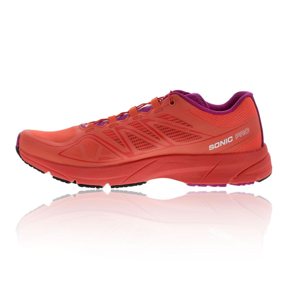 Salomon Sonic Pro Womens Pink Orange Cushioned Running ...