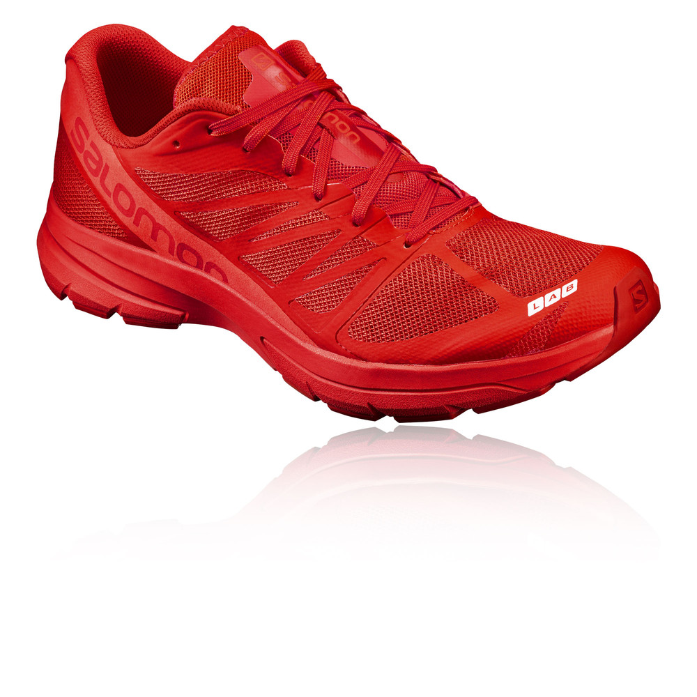 UK Shoes - Salomon S-Lab Sonic 2 Unisex Red Trail Running Sports Shoes Trainers Pumps Red