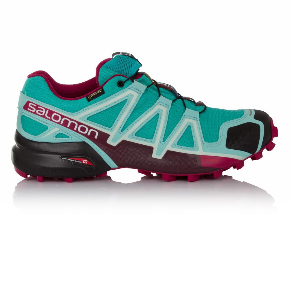 Salomon-Speedcross-4-Mujer-Azul-Gore-Tex-Impermeable-Running-Zapatos-Zapatillas