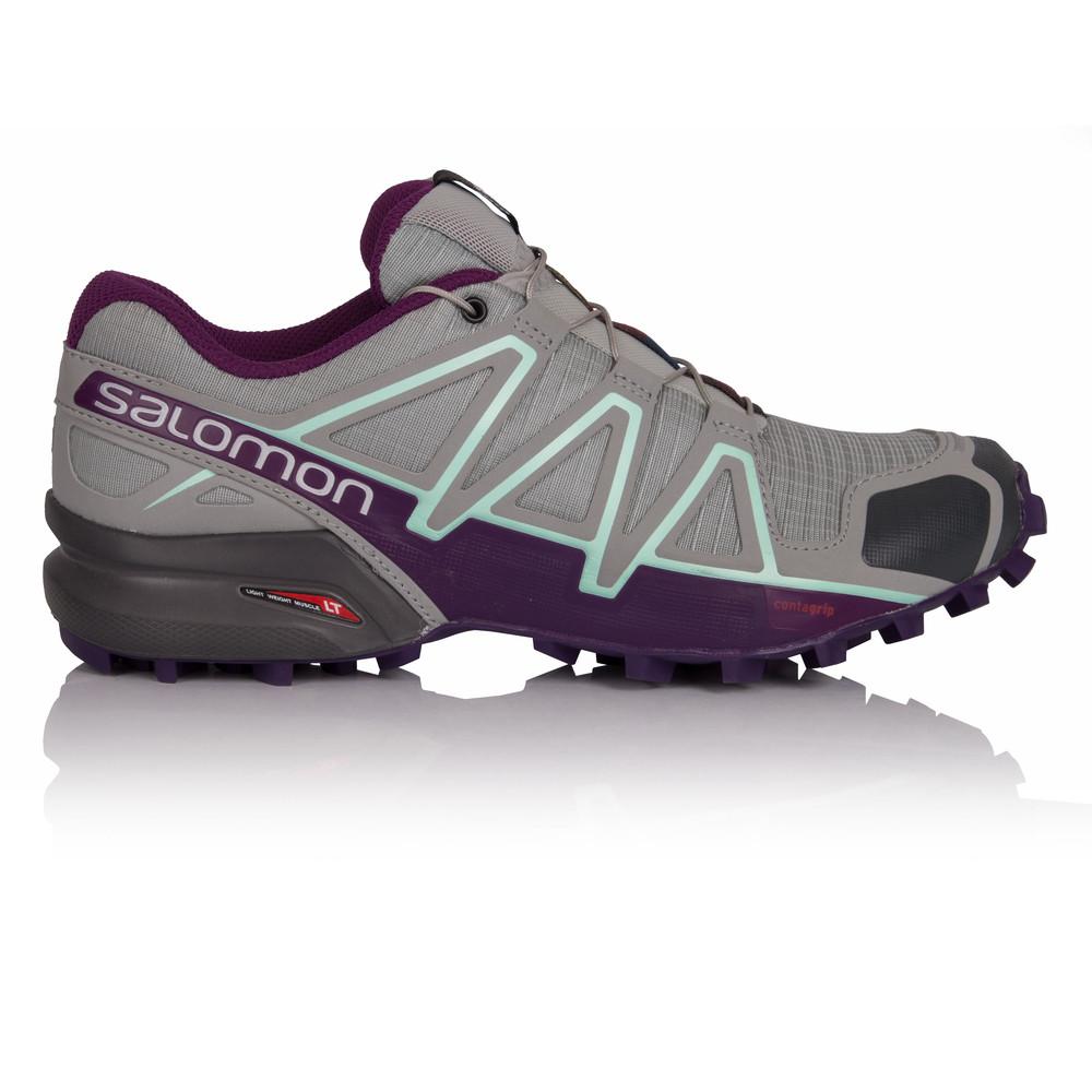 Salomon Speedcross 4 Damenschuhe Grau Grau Grau Water Resistant Trail Running Schuhes Trainers c81ef5