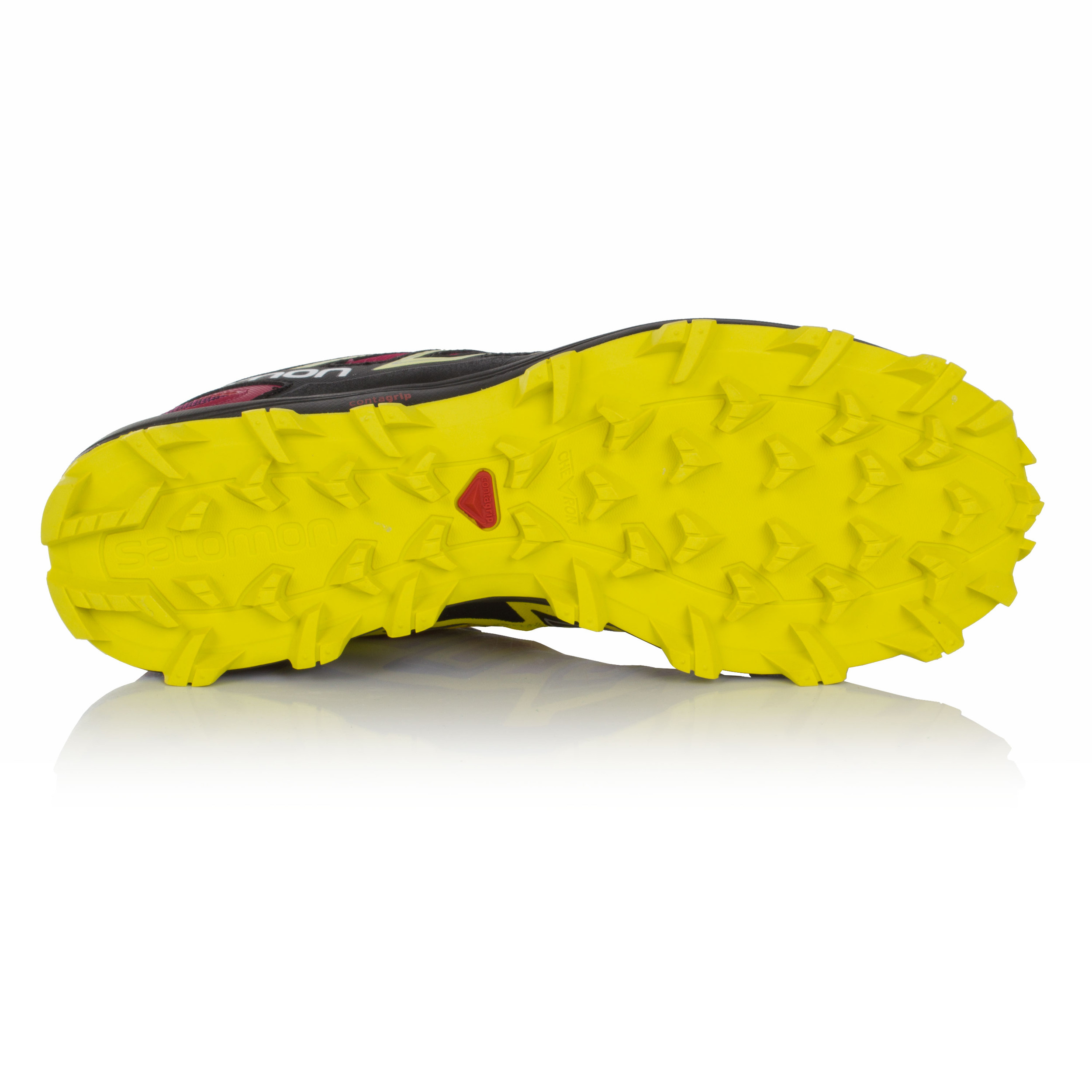 Salomon-Speedtrak-Mujer-Rosa-Negro-Resiste-Agua-Running-Zapatos-Zapatillas
