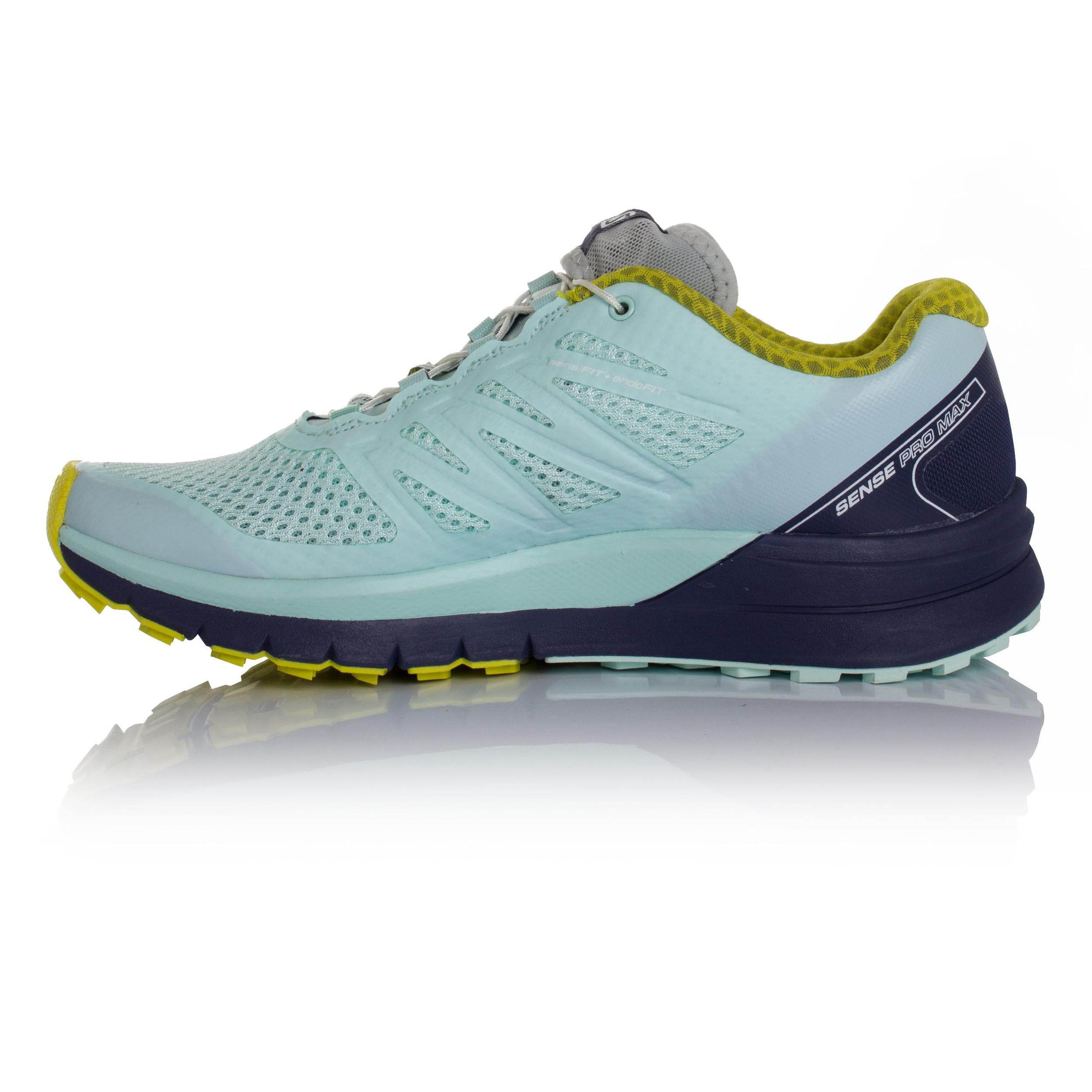 Salomon-Sense-Pro-Max-Mujer-Azul-Sendero-Running-Zapatos-Zapatillas-Correr