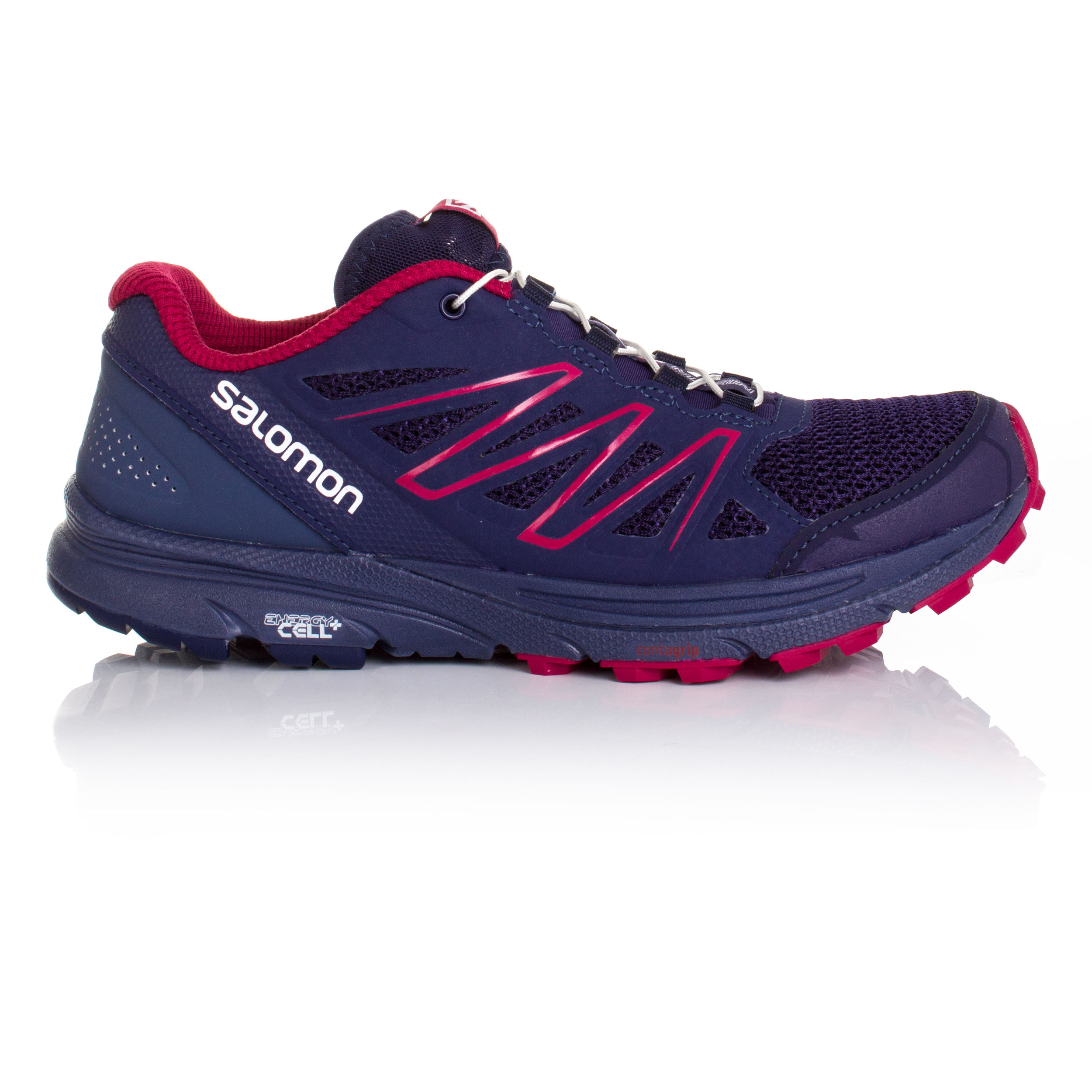 Details about Salomon Sense Marin Womens Purple Trail Running Road Sports  Shoes Trainers bbde313ce9