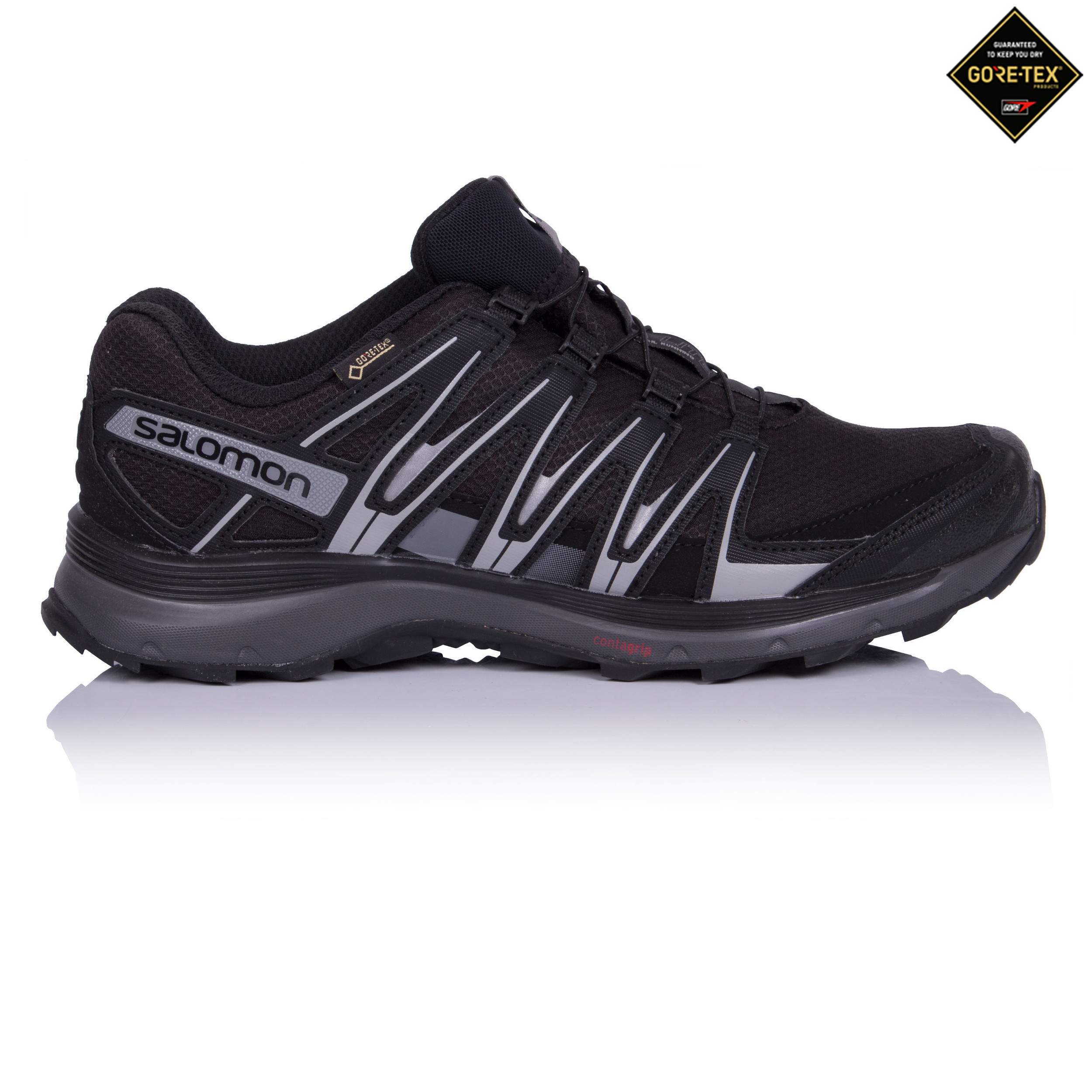 Salomon-XA-Lite-Mens-Black-Waterproof-Gore-Tex-Running-Sports-Shoes-Trainers