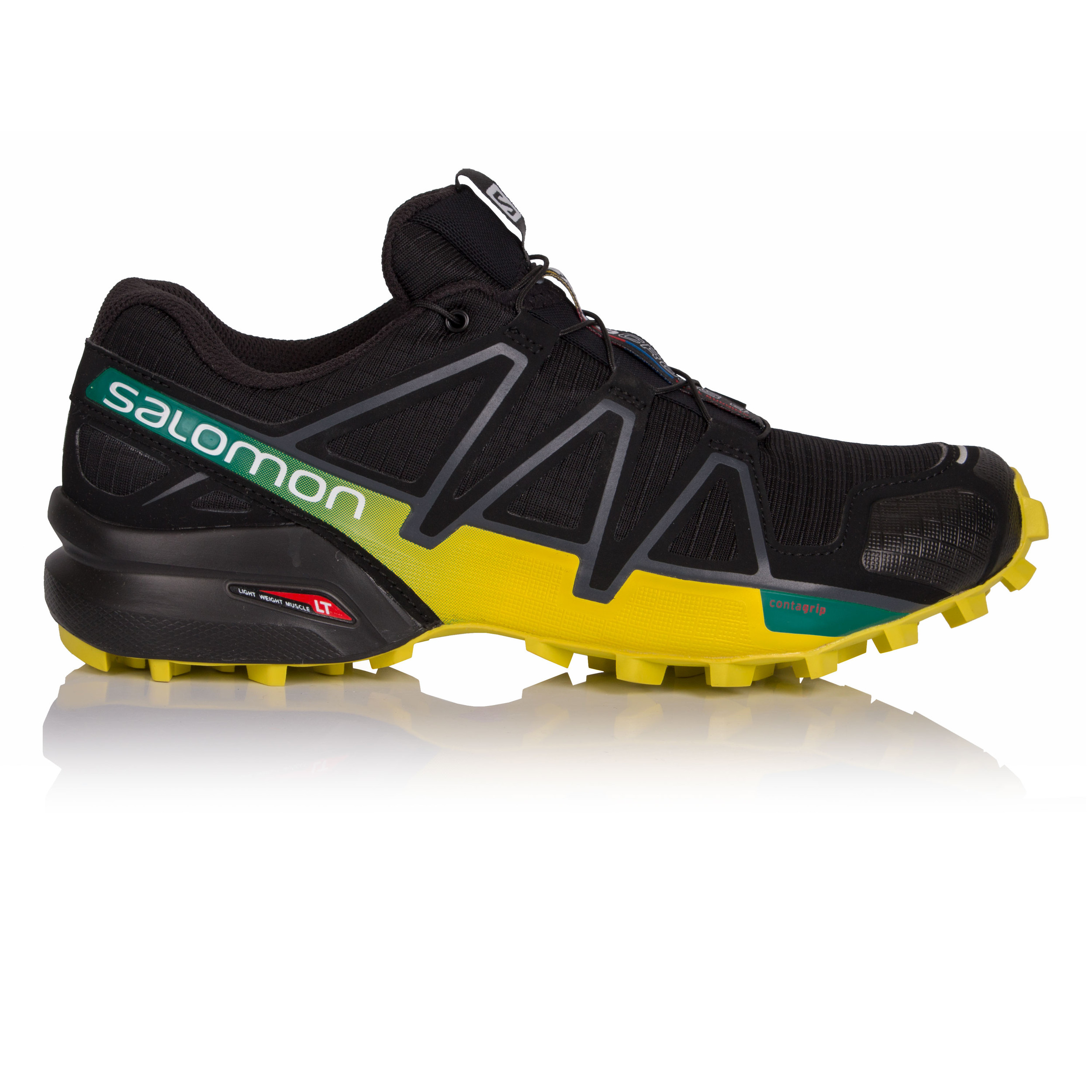Salomon Uomo Trail Scarpe Running Speedcross 4 Black zolfo Primavera ... 423bf92e5cb