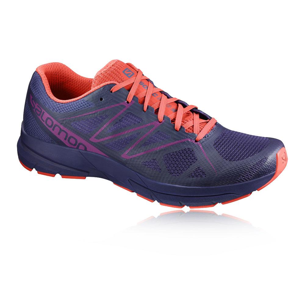 Salomon-Sonic-Pro-2-Mujer-Violeta-Acolchado-Running-Deporte-Zapatos-Zapatillas