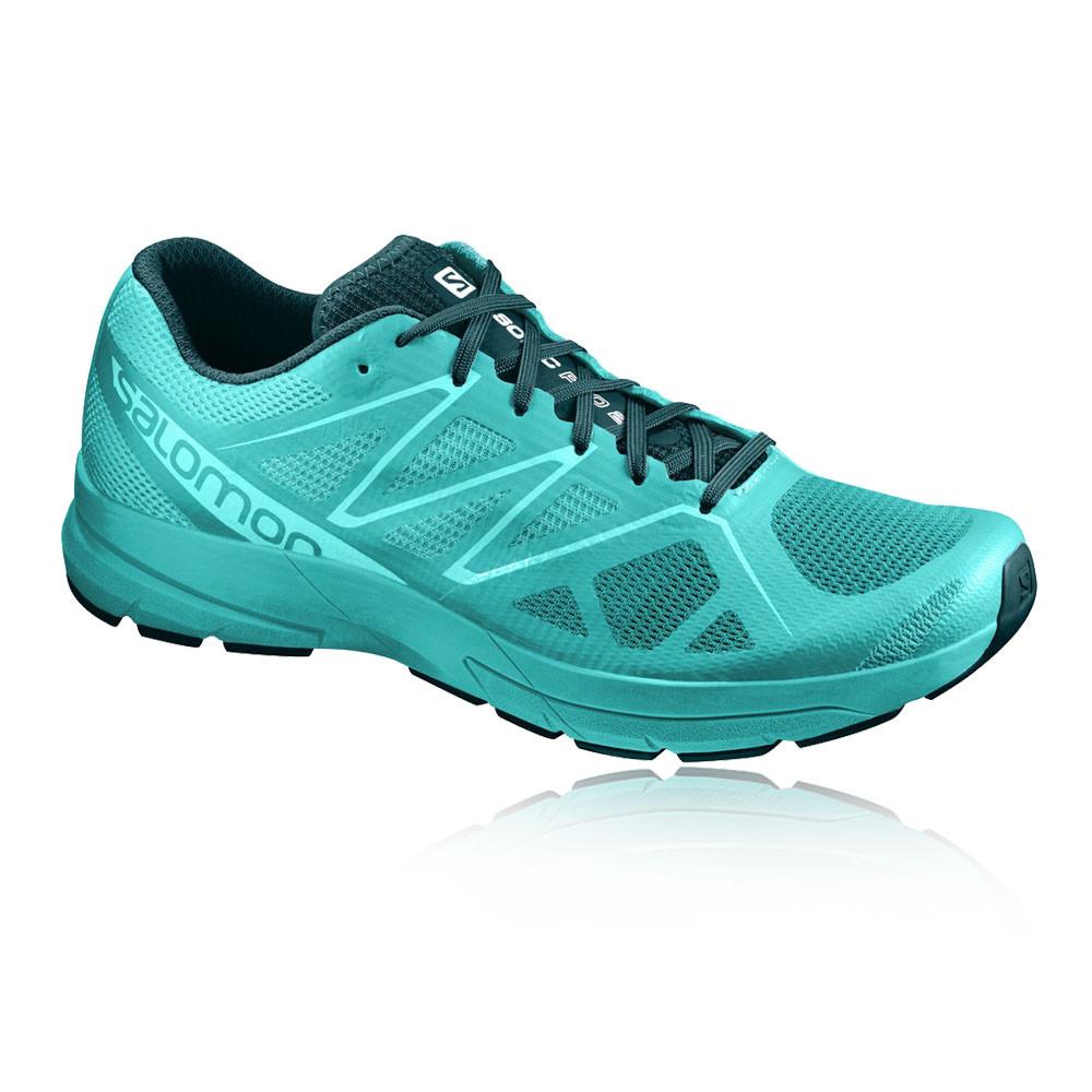 Salomon Sonic Pro 2 Mujer Azul Acolchado Running Deporte Zapatos Zapatillas 547c8d77fc