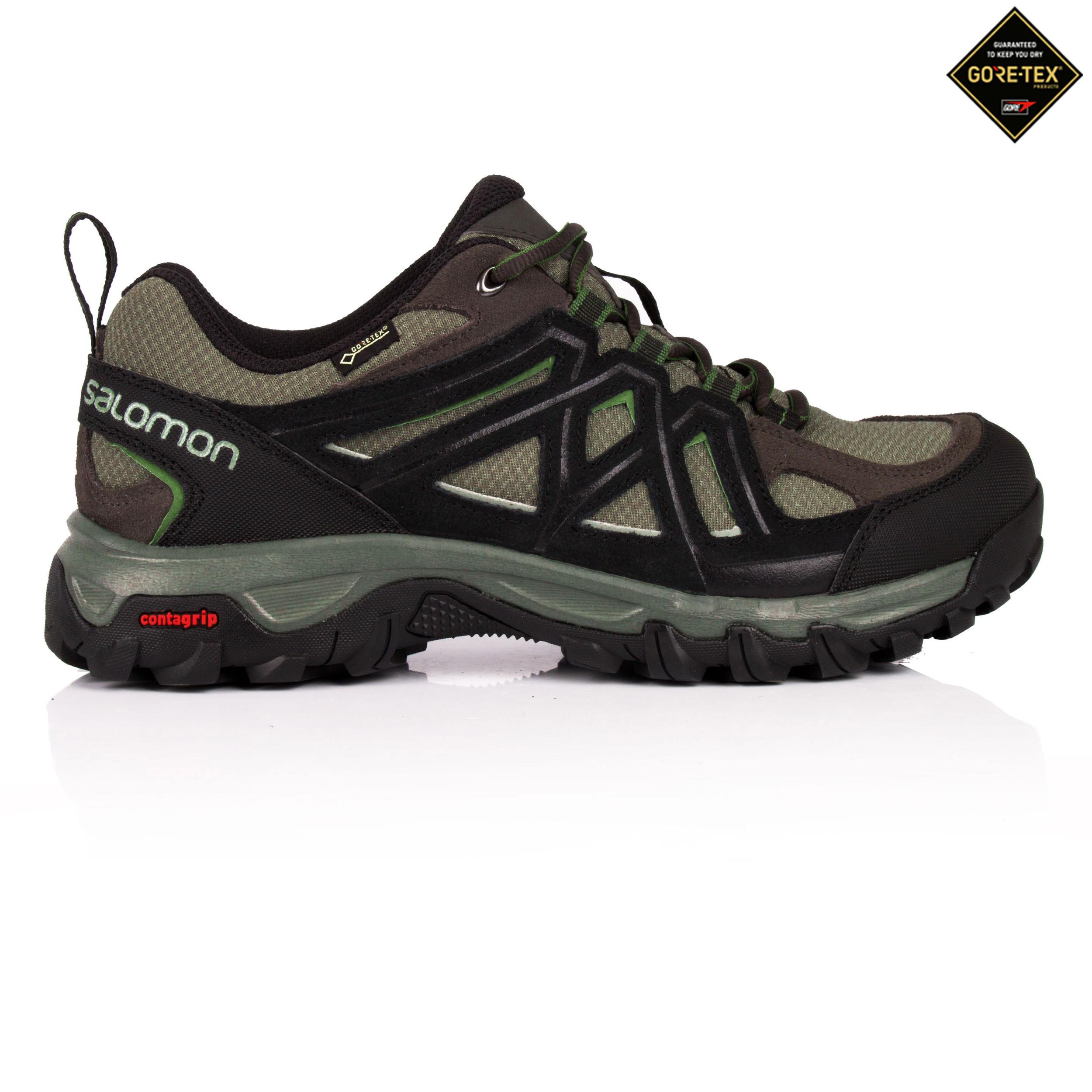 9a5d88baa305 Details about Salomon Evasion 2 Mens Black Waterproof Gore Tex Walking  Hiking Shoes