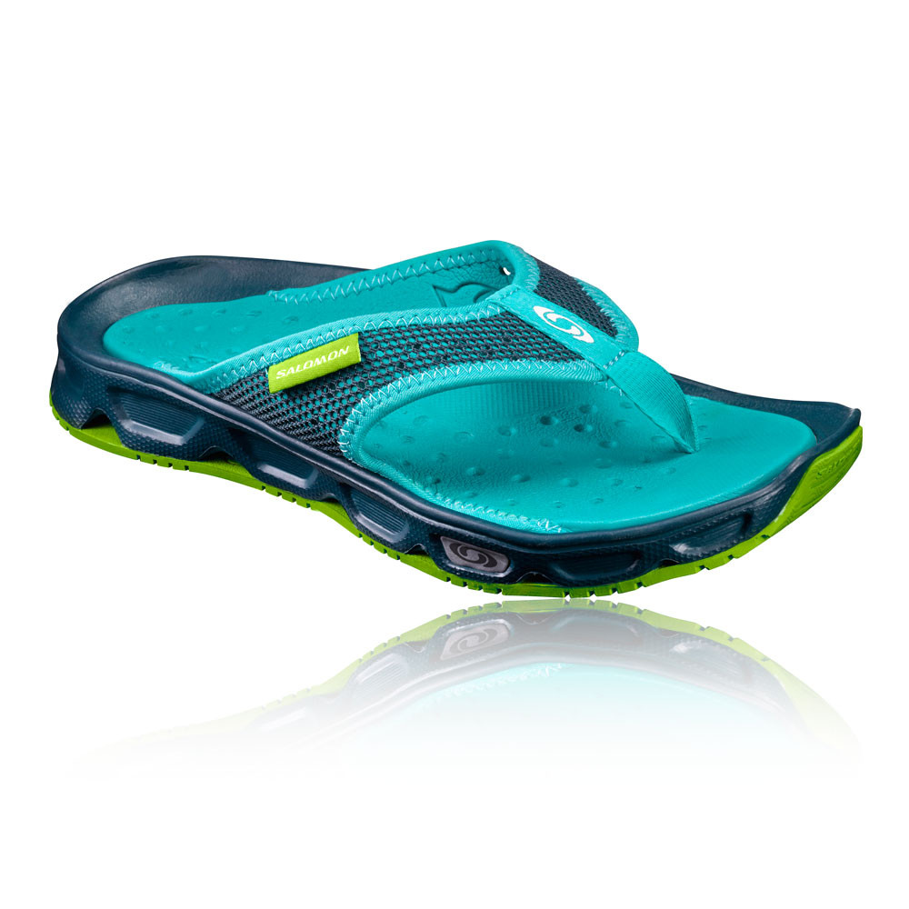 424efaca41a52 Details about Salomon RX Break Womens Blue Leisure Walking Hiking Flip Flops  Summer Shoes