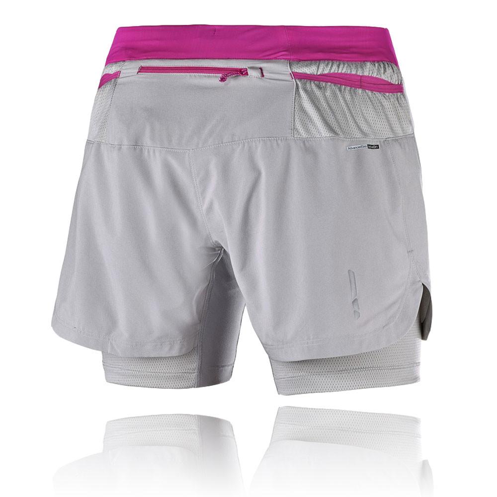 salomon fast wing twinskin damen laufhose sport shorts. Black Bedroom Furniture Sets. Home Design Ideas
