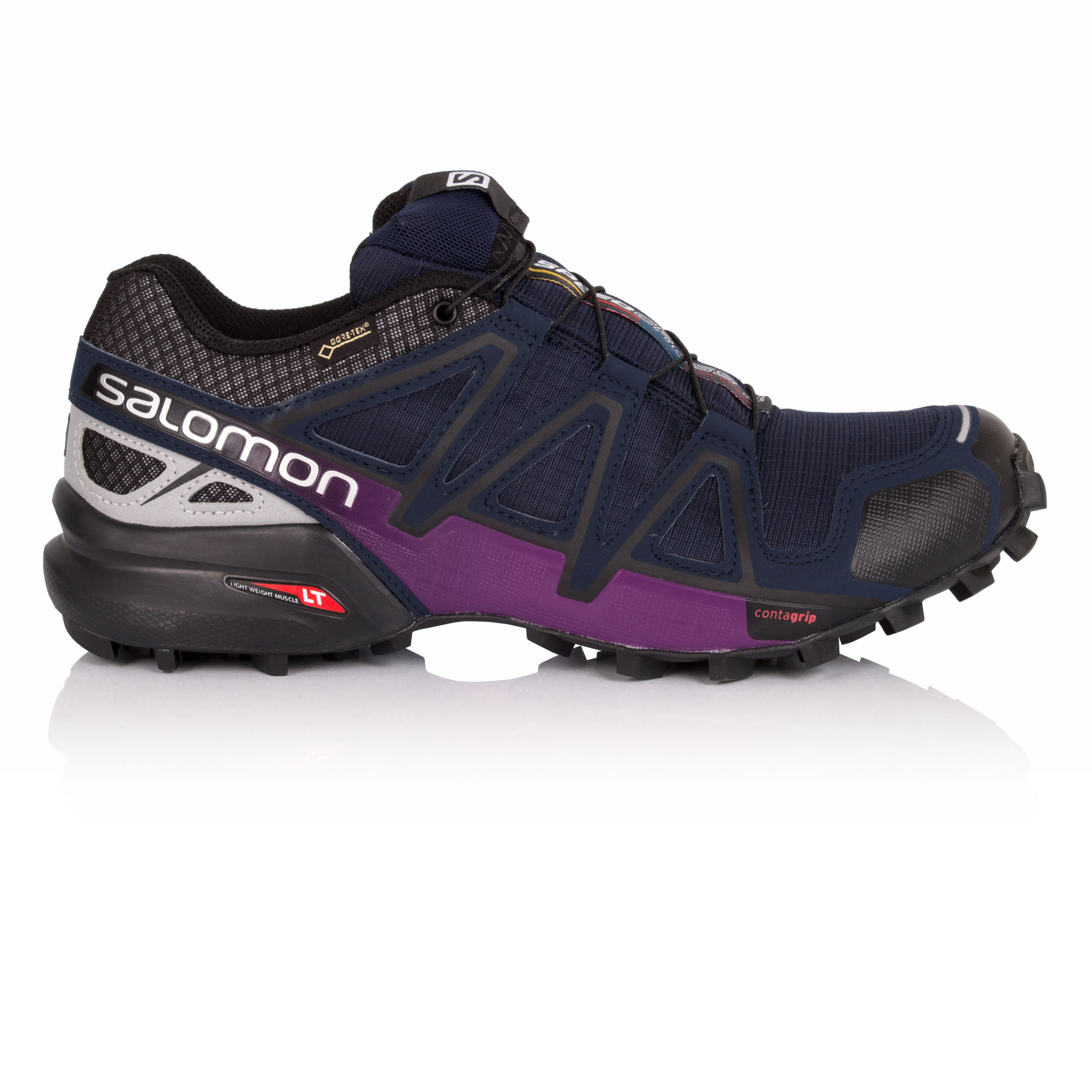 Details about Salomon Speedcross 4 Nocturne Womens Purple Blue Running Shoes  Trainers 258a893dc0
