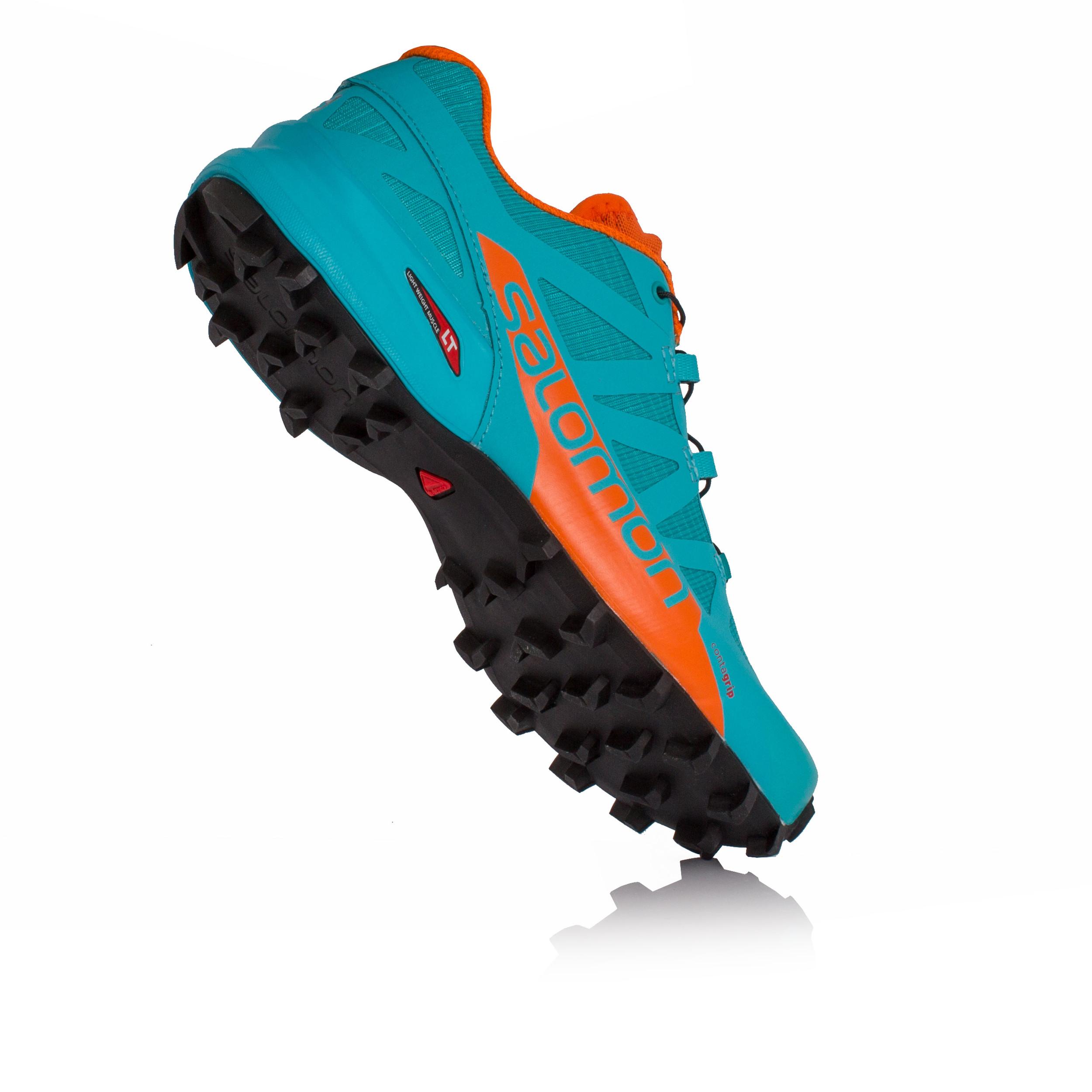 4a326ff32993 Salomon Speedcross Pro 2 Womens Orange Blue Running Sports Shoes Trainers