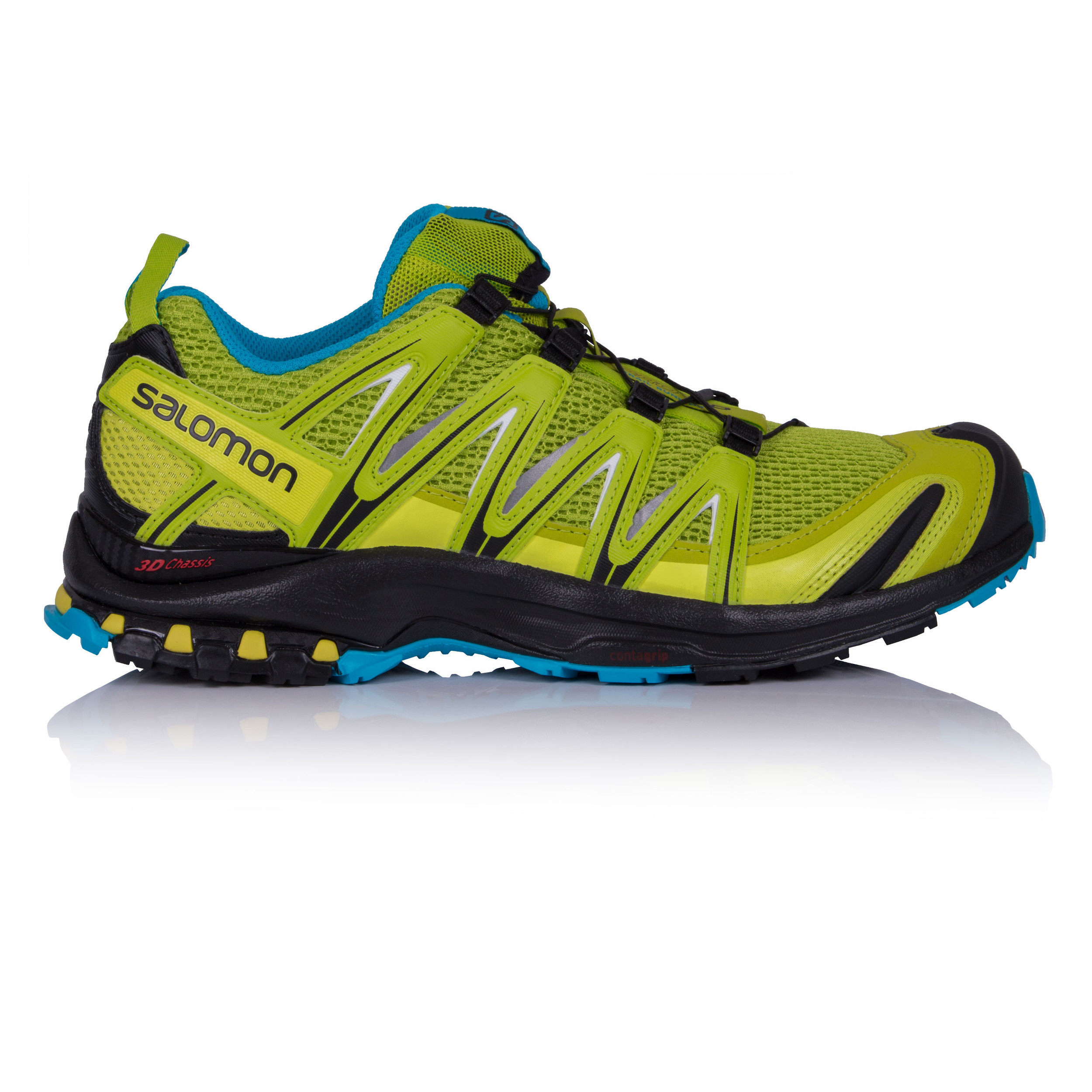 Salomon XA Pro 3D Mens Green Trail Running Sports Shoes Trainers Sneakers