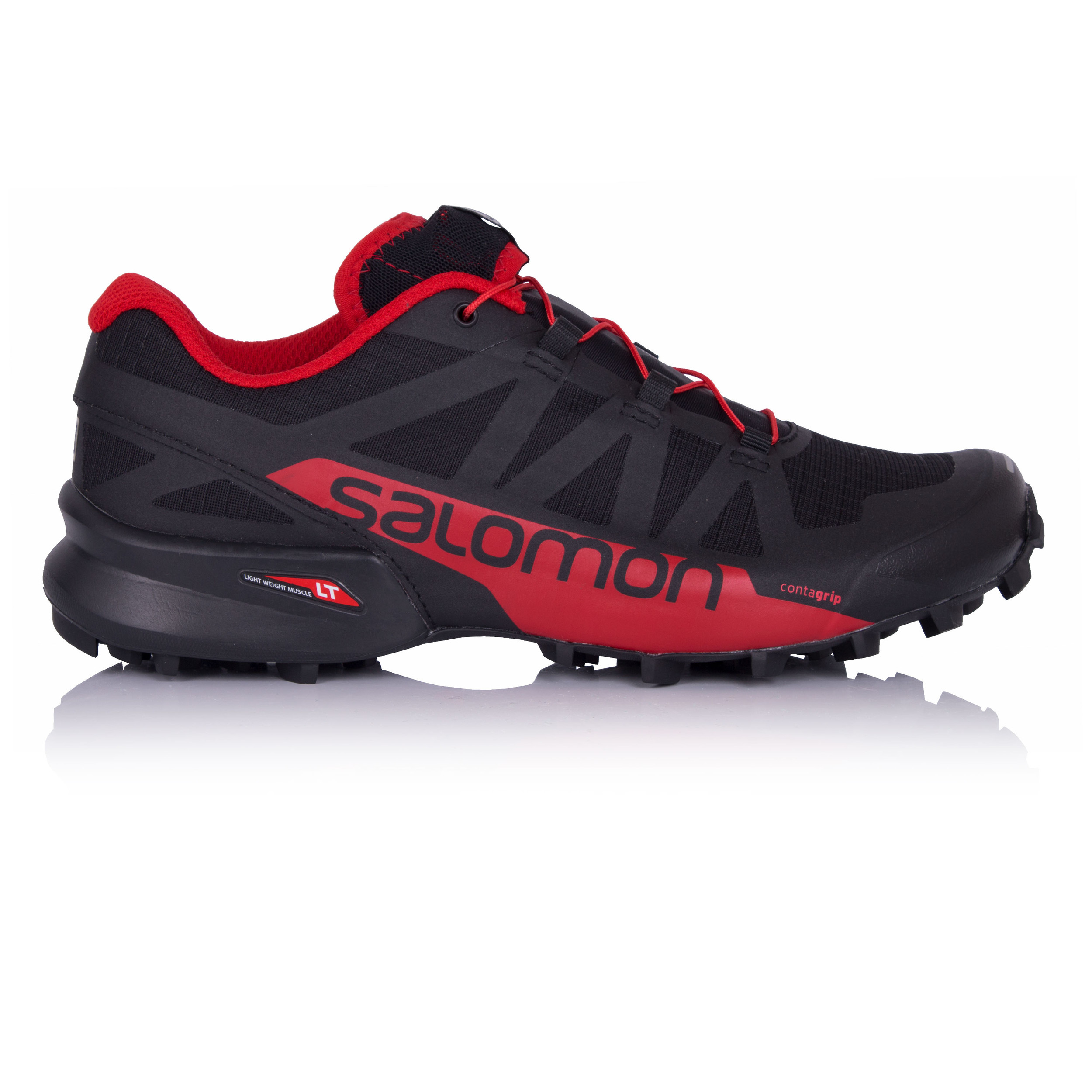 7735accd2864 Salomon Speedcross Pro 2 Mens Black Red Trail Running Sports Shoes Trainers