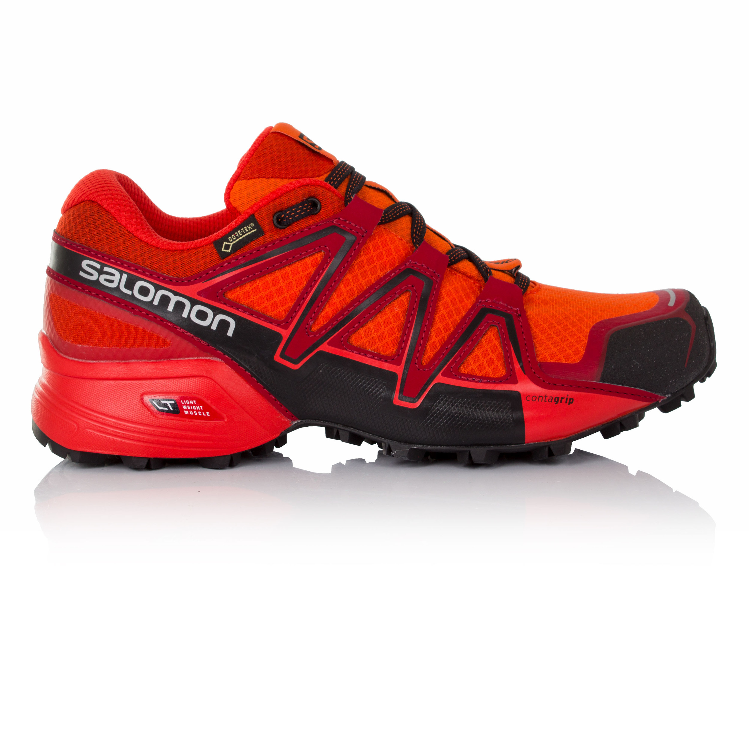 Details about Salomon Speedcross Vario 2 Mens Red Orange Gore Tex Running Shoes Trainers