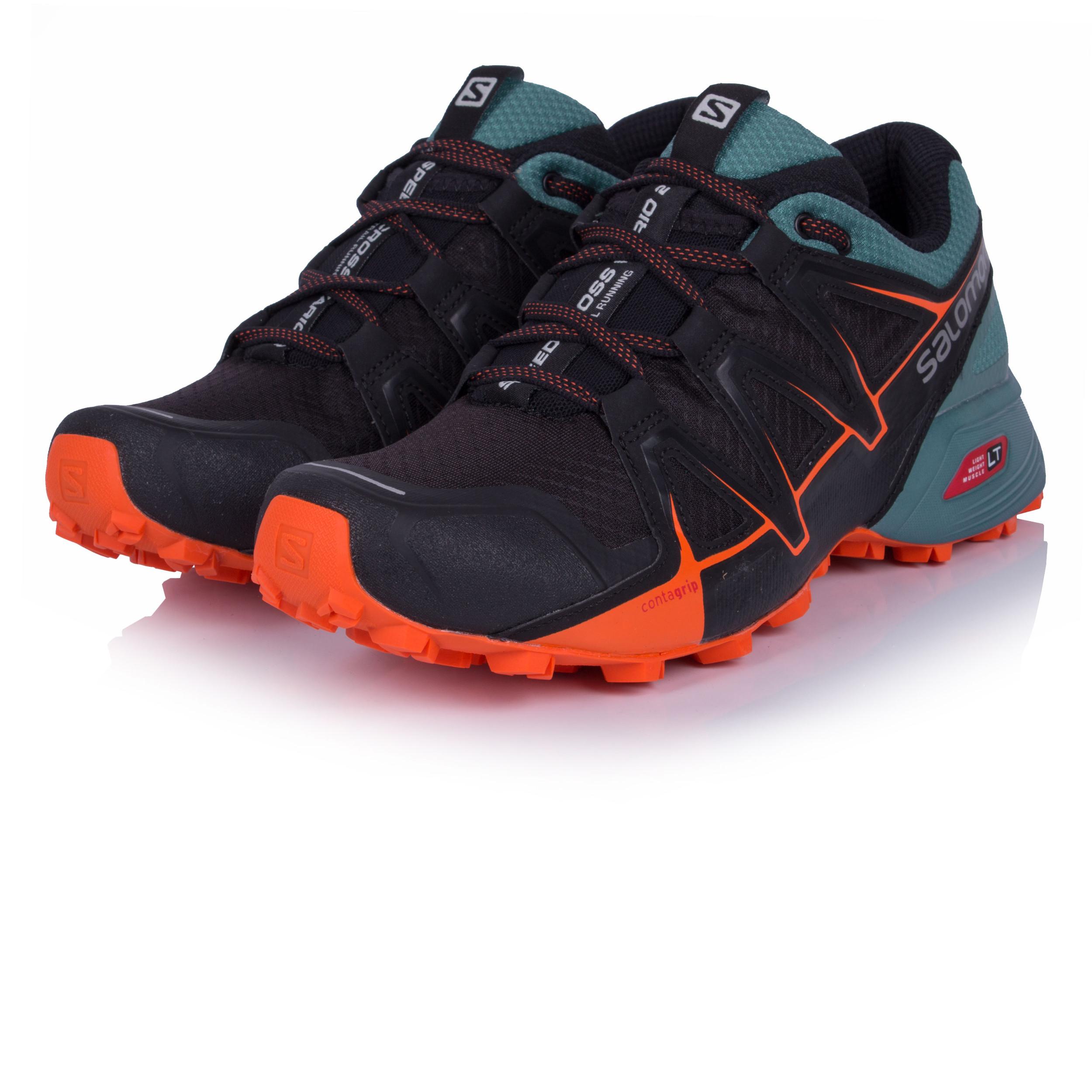 Details about Salomon Speedcross Vario 2 Mens Blue Black Trail Running  Shoes Trainers 254d44d9496