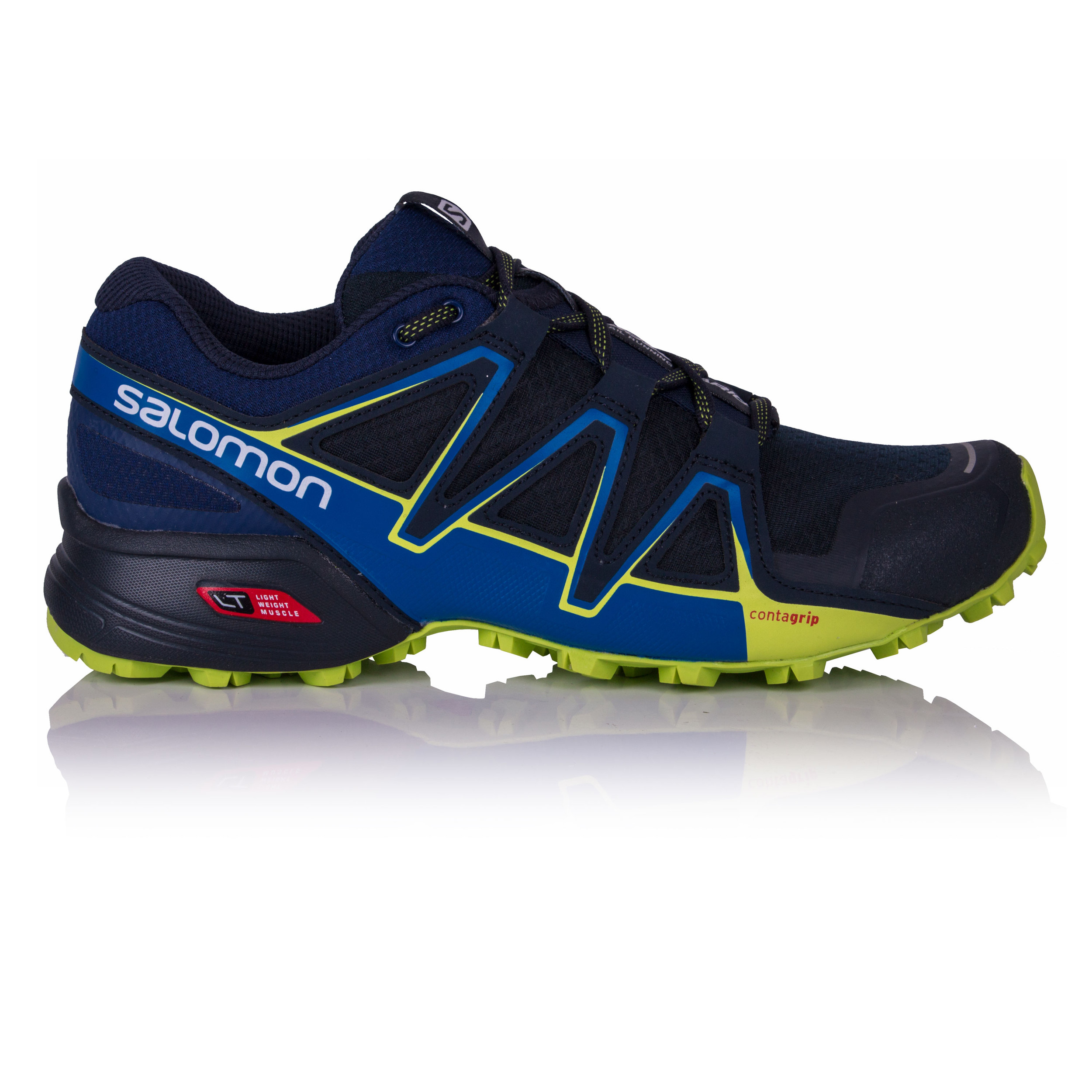 f3b519990a Details about Salomon Speedcross Vario 2 Mens Blue Trail Running Shoes  Trainers Pumps