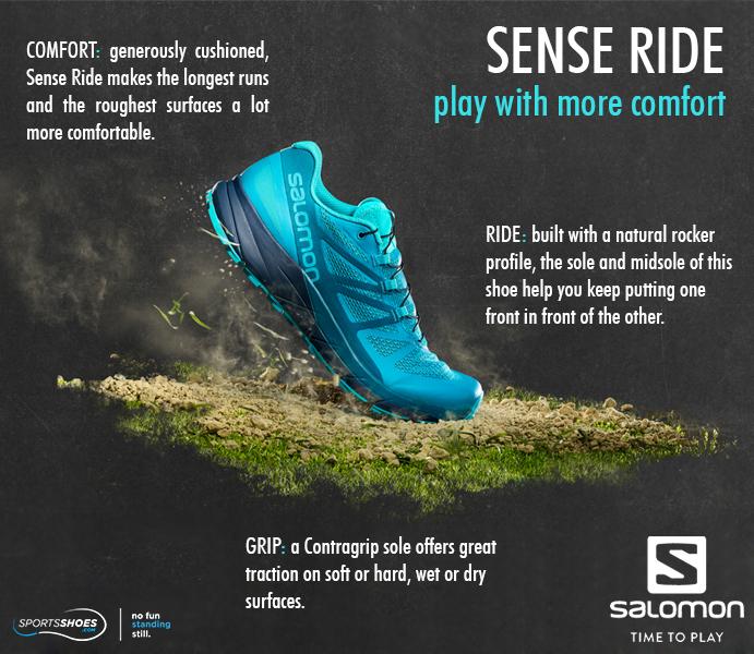 30Off Sense Trail AW18 Salomon Ride Running Shoes hrdsQCxt