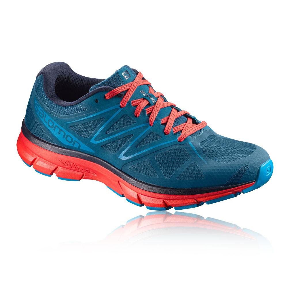 Das Bild wird geladen Salomon-Herren-Blau-Rot -Sonic-Jogging-Schuhe-Sportschuhe-
