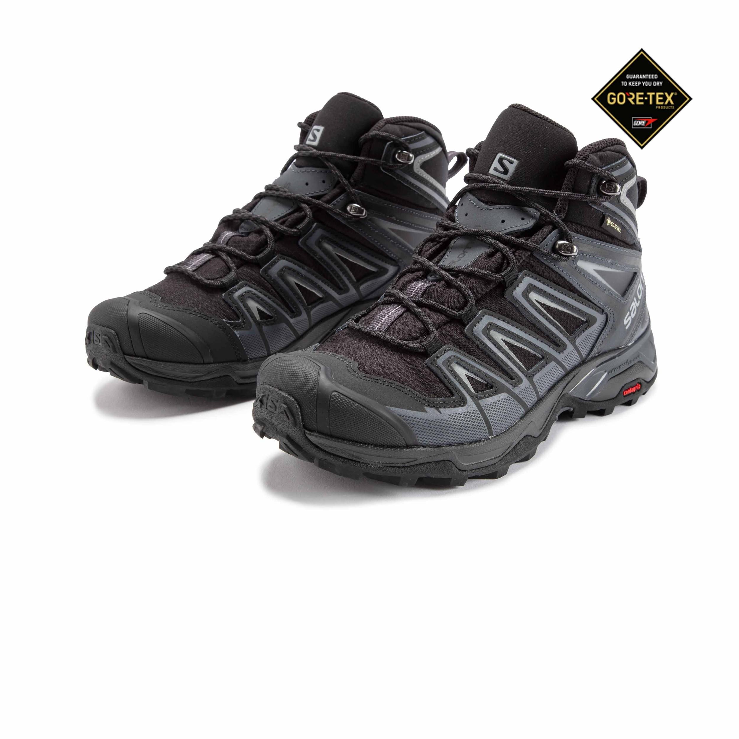 Salomon Herren Schwarz X Ultra Mid 3 GTX Outdoor Stiefel Wanderstiefel Schuhe