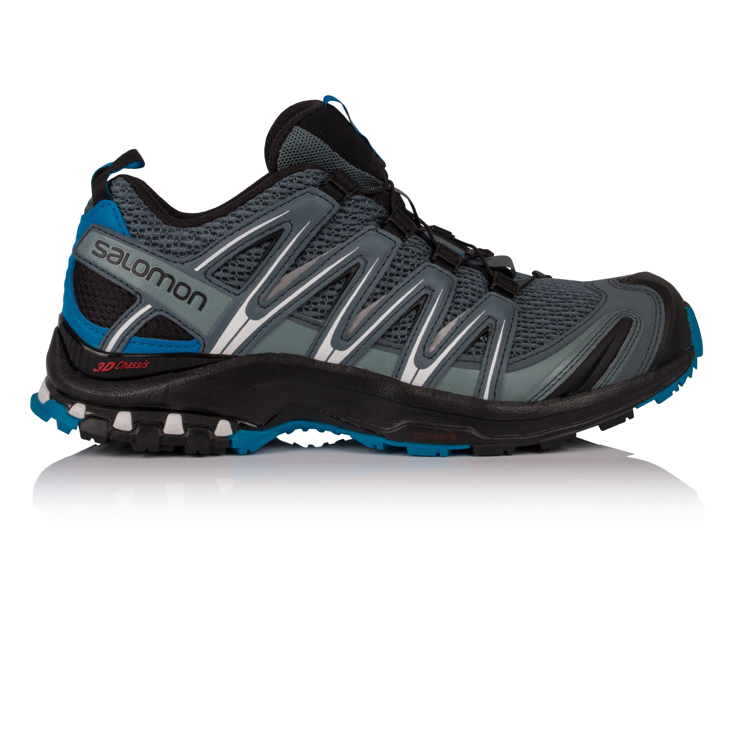 0dff3f76ddc5e Details about Salomon Mens XA PRO 3D Trail Running Shoes Trainers Sneakers  Grey Sports