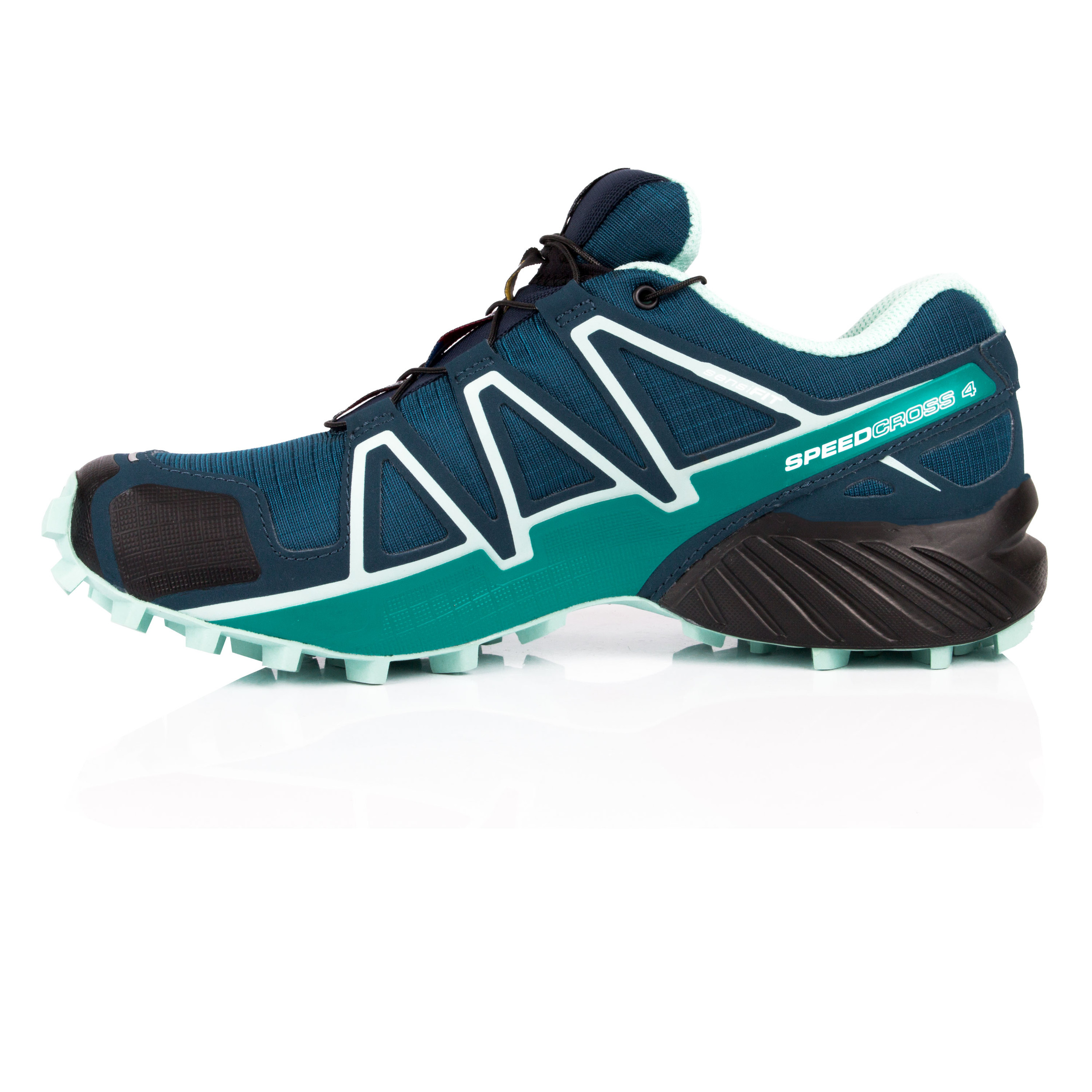Salomon Womens SPEEDCROSS 4 Trail Running Shoes Trainers Sneakers Navy Blue 60421e91a2d3