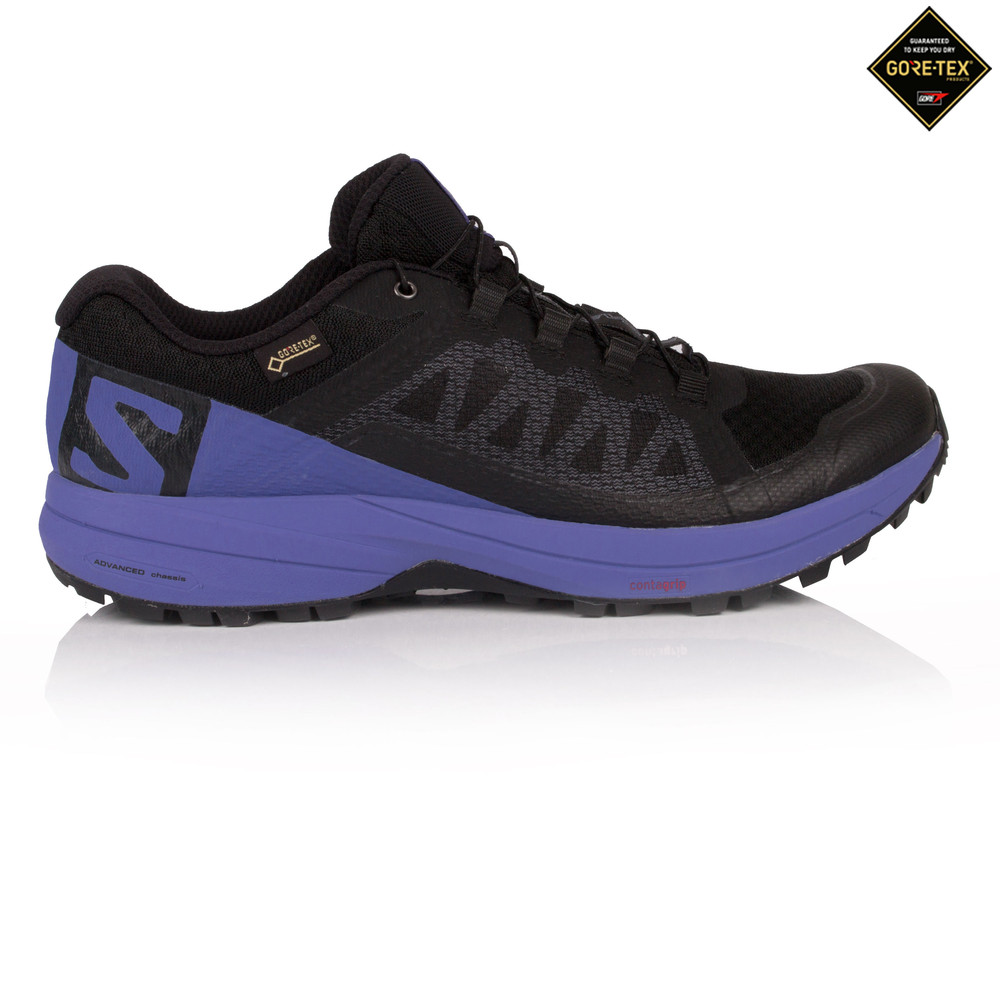 961667d35588 Salomon Womens XA ELEVATE GTX Trail Running Shoes Trainers Sneakers Black  Purple