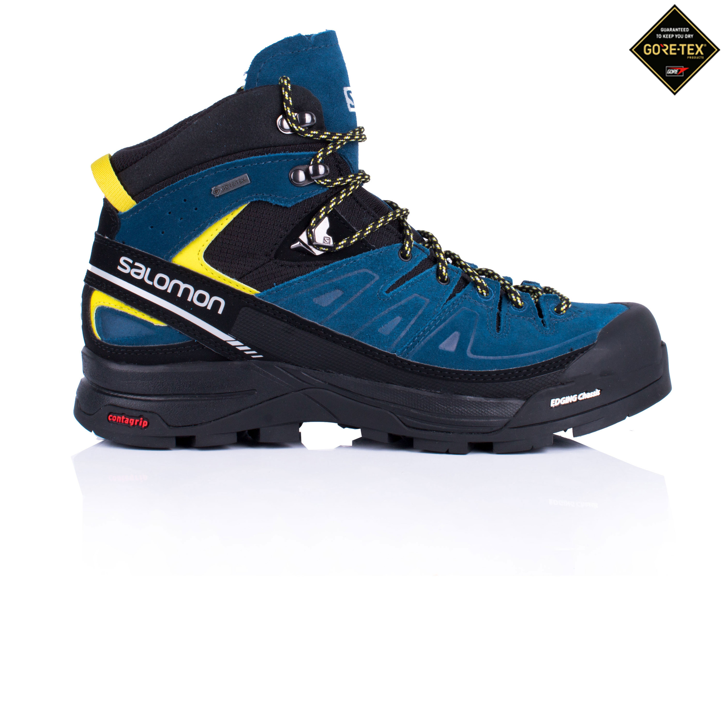 23c7ea21 Details about Salomon Mens X Alp Mid Ltr Gore-Tex Walking Boots Blue Sports  Outdoors Water