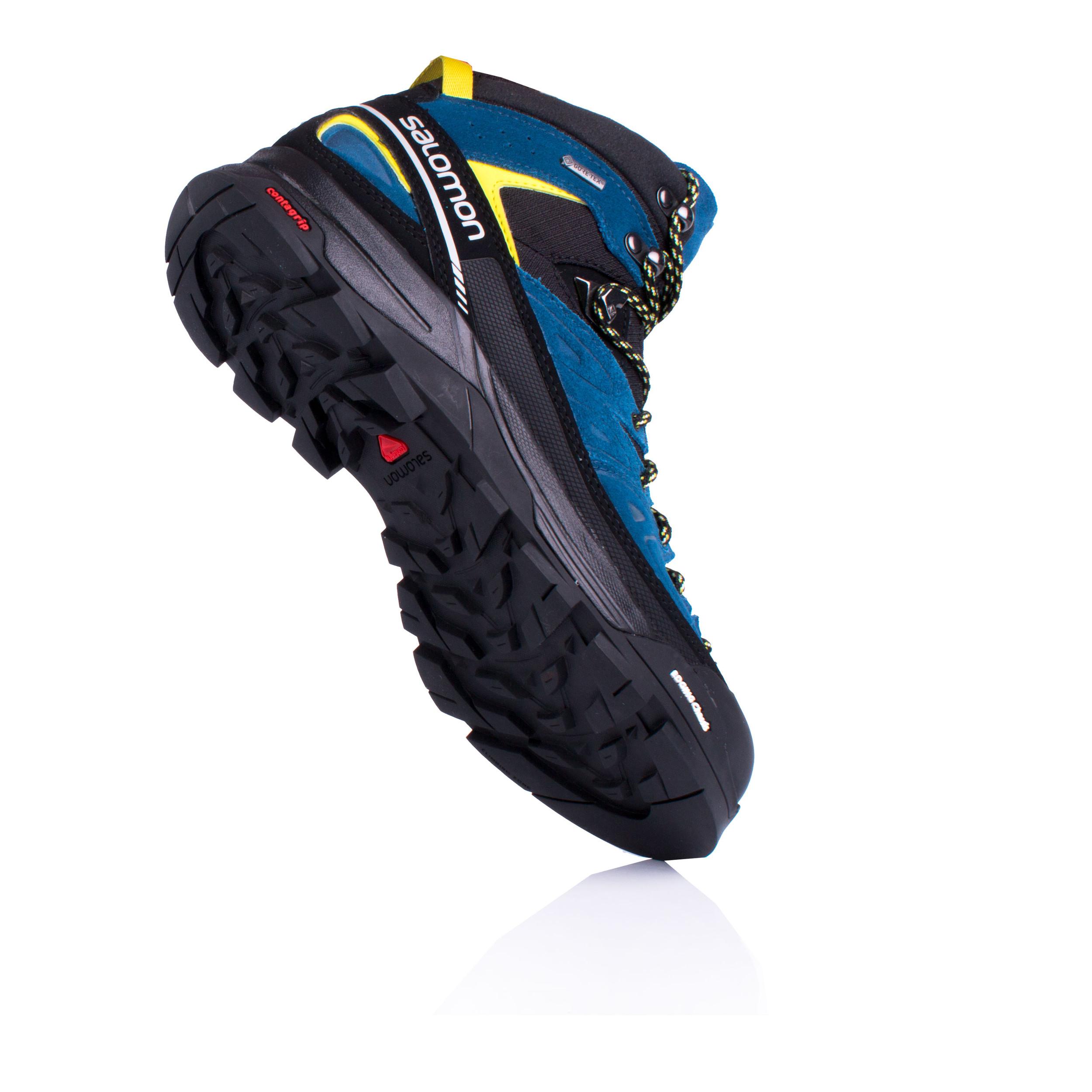 Salomon Uomo X Alp Mid Ltr Gore-Tex Scarpe da Trekking Scarponi Blu Sport 74b2b150b31