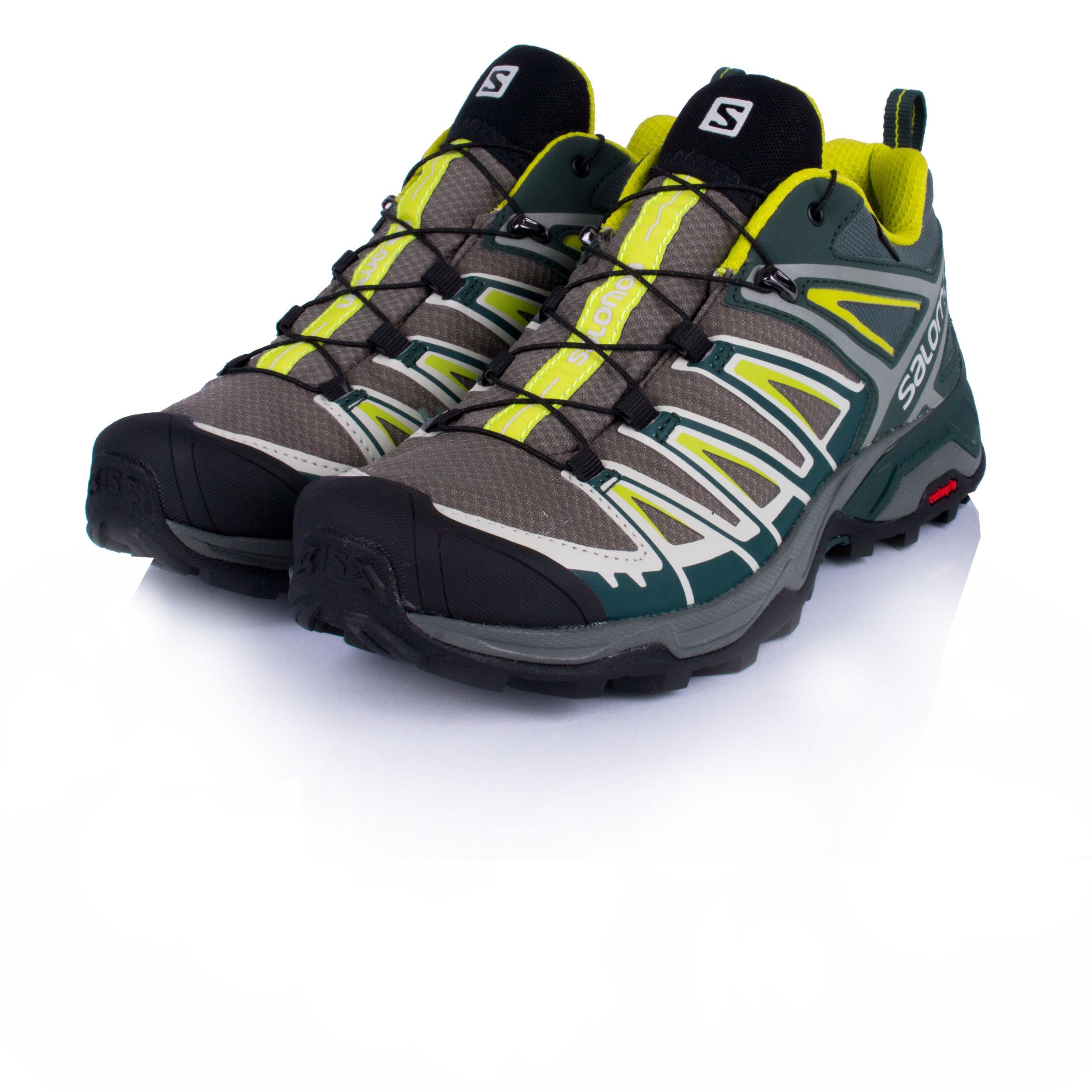 Salomon Uomo X Ultra 3 Scarpe da Trekking Gore-Tex Verde Giallo Sport 2f19a821f28