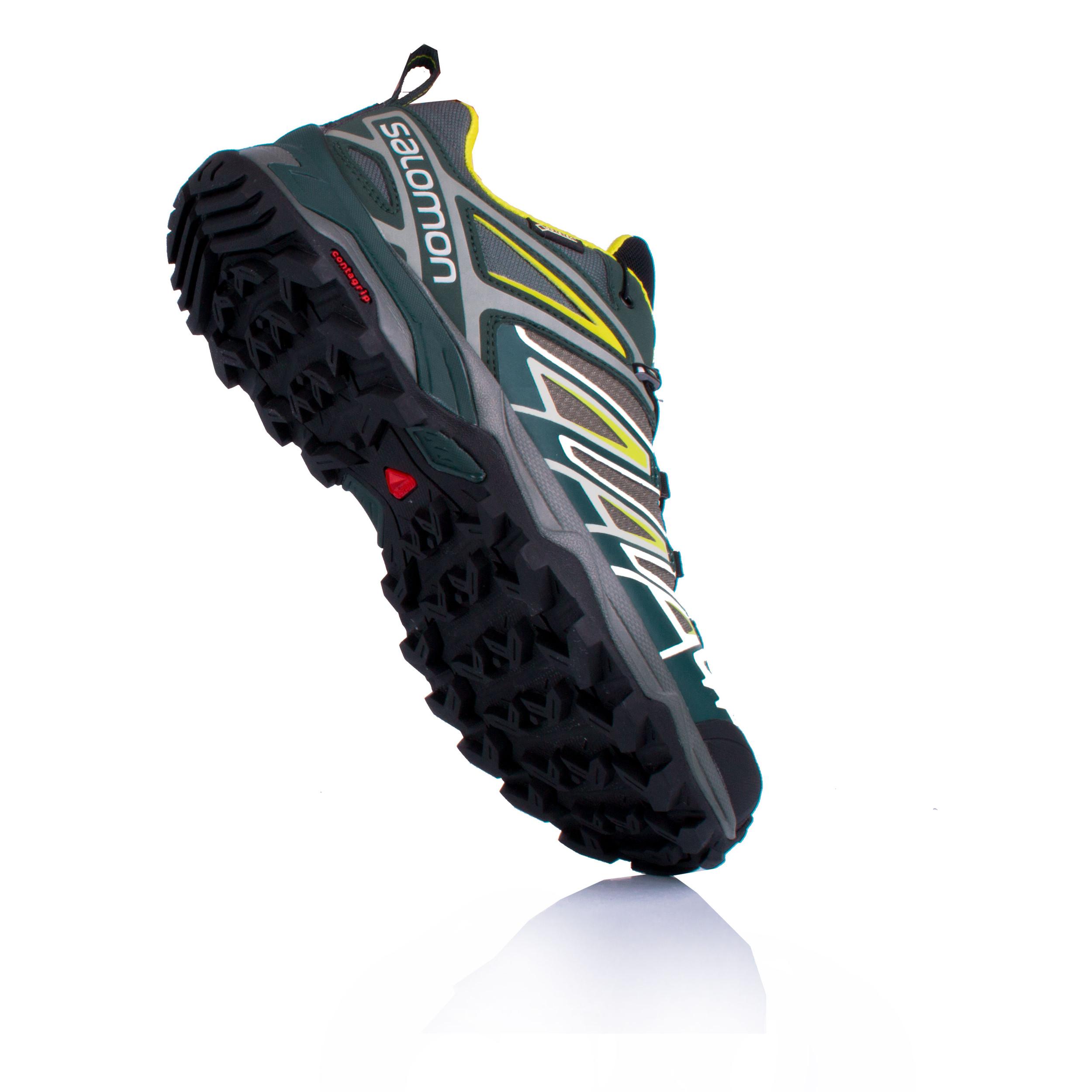 1e6a3874ef Dettagli su Salomon Uomo X Ultra 3 Scarpe da Trekking Gore-Tex Verde Giallo  Sport