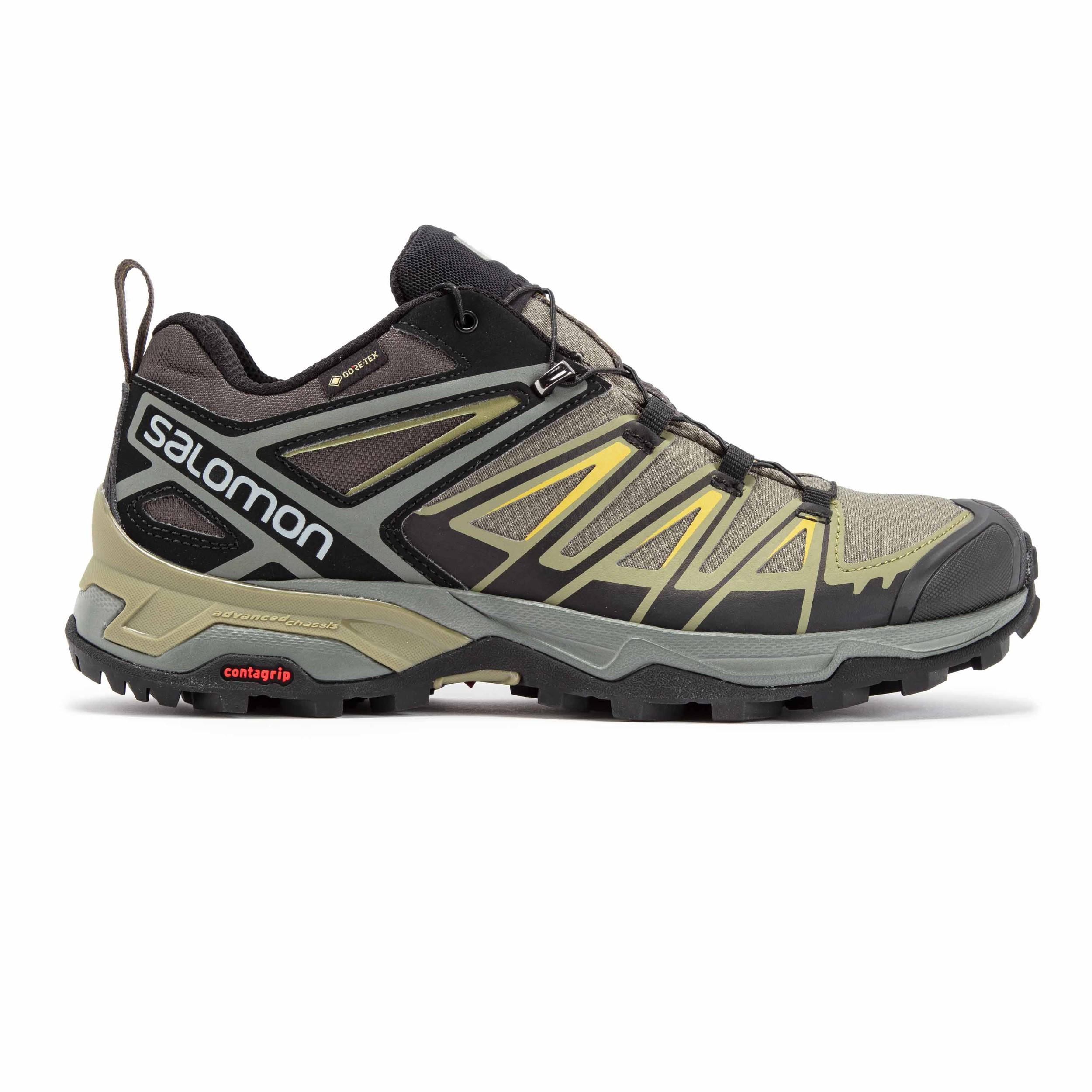 Salomon Uomo X Ultra 3 Scarpe da Trekking Scarponi Mid Gore-Tex Verde Sport 870b3cfe125