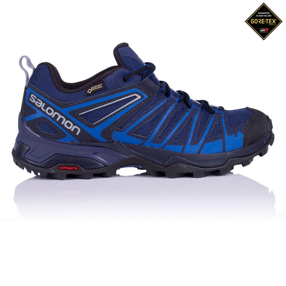 f49f100cdfd Details about Salomon Mens X Ultra 3 Prime Gore-Tex Walking Shoe Blue Navy  Sports Trainers
