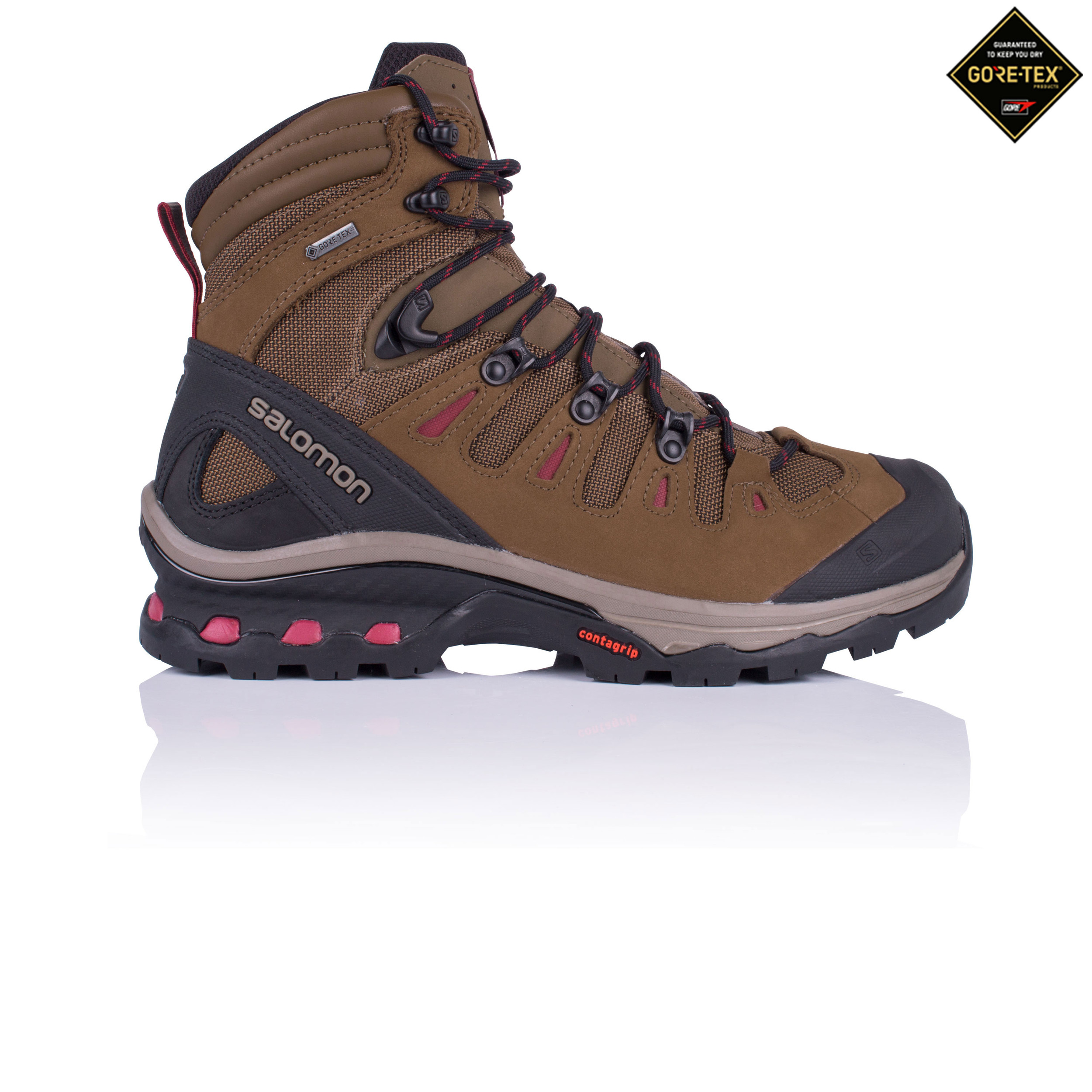 bdf65391c5b Details about Salomon Womens Quest 4D 3 GTX Walking Boots Brown Sports  Outdoors Waterproof