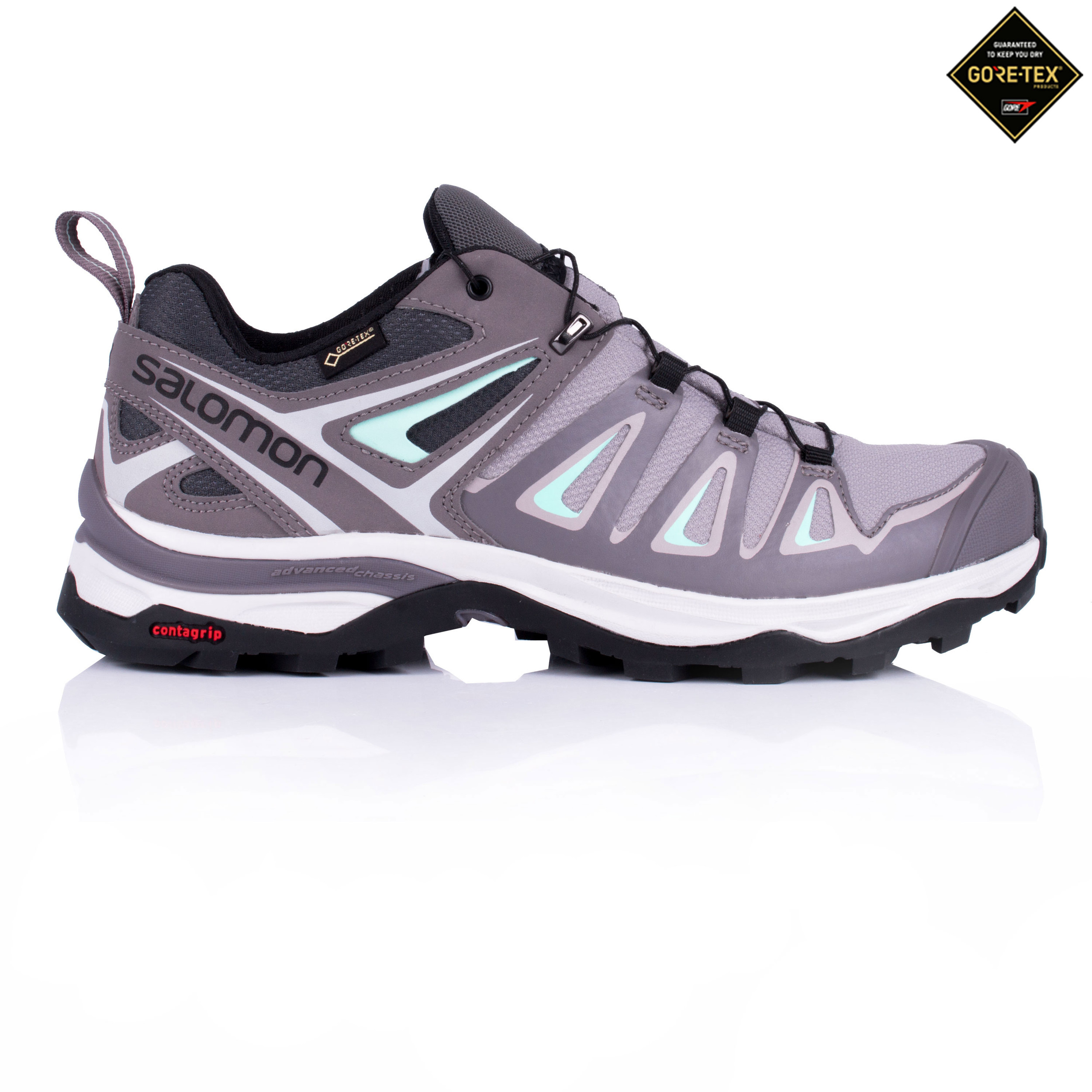 Details about Salomon Womens X Ultra 3 Gore Tex Walking Shoe Grey Sports Outdoors Trainers