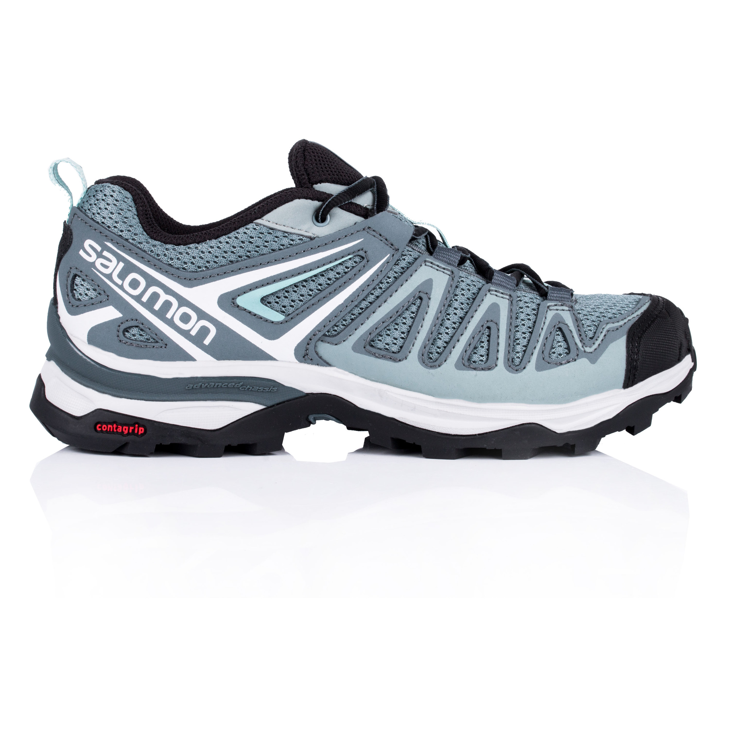 96a9214d5eed Details about Salomon Womens X Ultra 3 Prime Walking Shoe Blue Sports  Breathable Trainers
