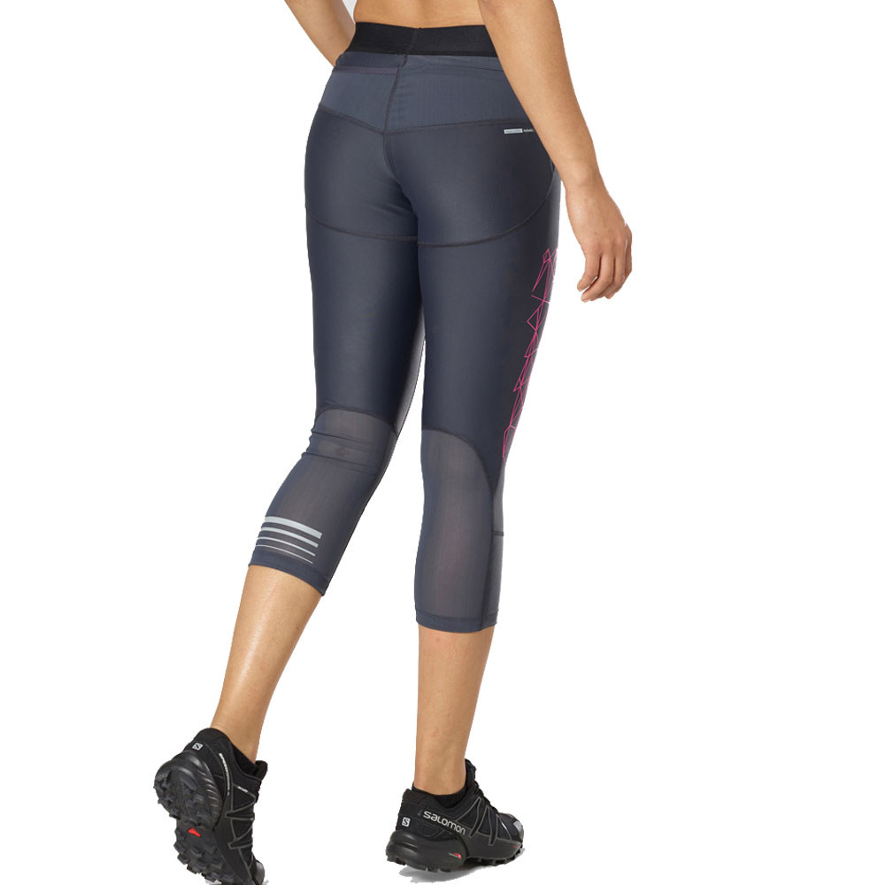 Clothing & Accessories Salomon Intensity Womens Long Running Tights Activewear Black Long Performance Life