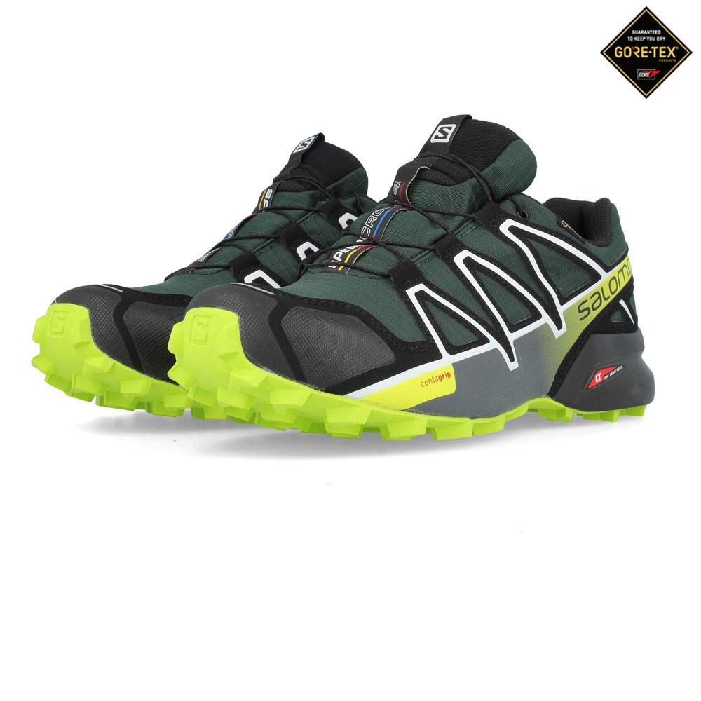 Salomon  Herren Speedcross 4 GORE-TEX Trail Running Schuhes Trainers Turnschuhe Grün