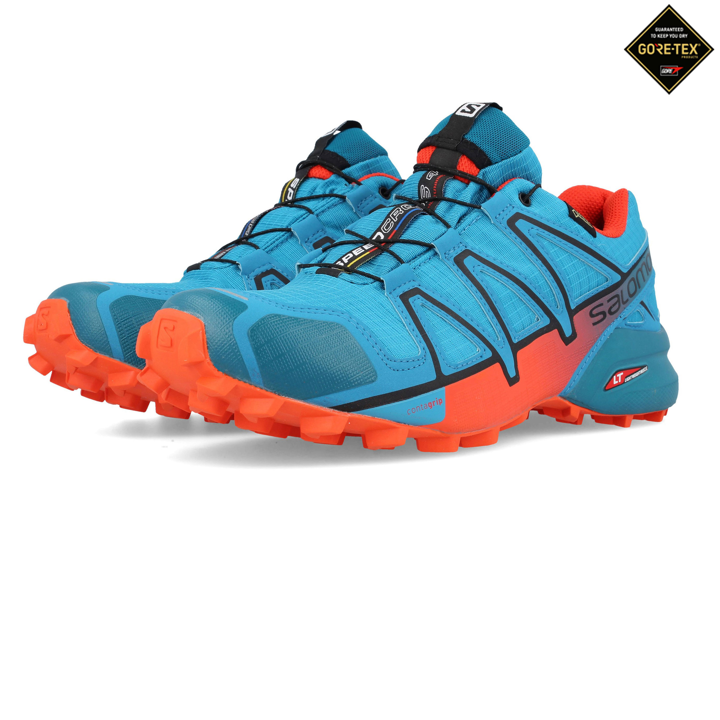 sale retailer 596c8 593b7 Details about Salomon Mens Speedcross 4 GORE-TEX Trail Running Shoes  Trainers Sneakers Blue