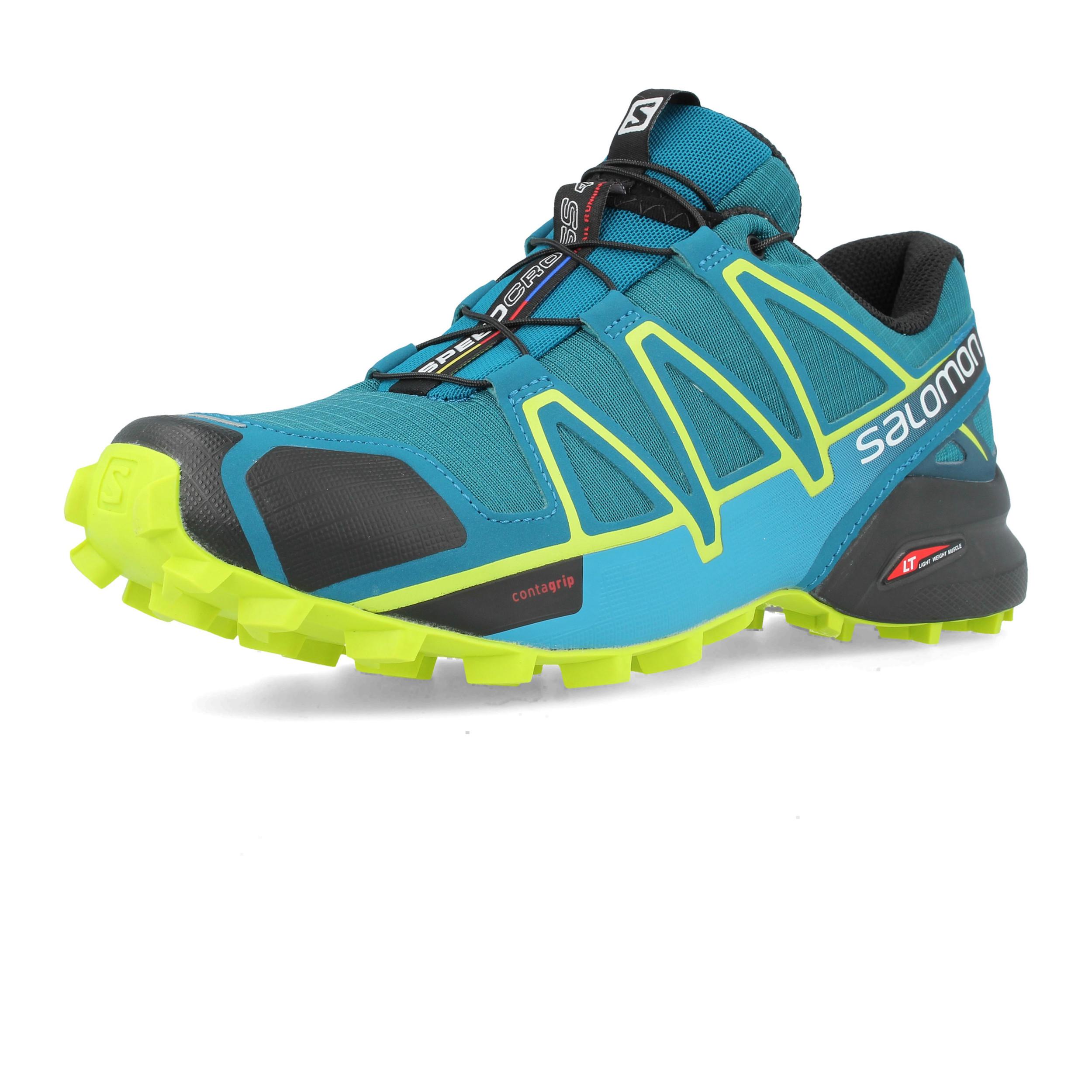 d6bb319b4d8b Details about Salomon Mens Speedcross 4 Trail Running Shoes Trainers  Sneakers Sport Blue Green