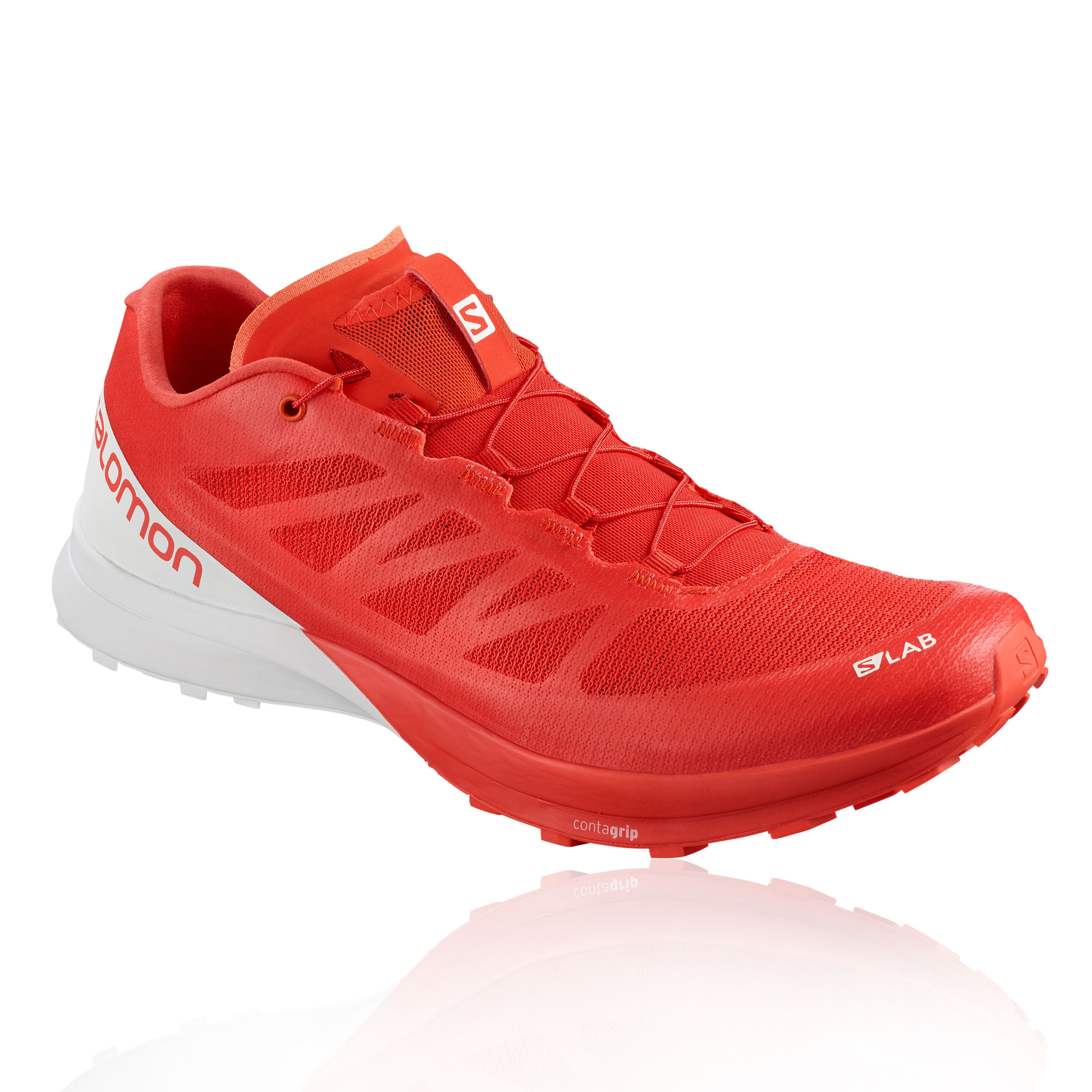 203983a41ba0 Details about Salomon Unisex S-Lab Sense 7 Trail Running Shoes Trainers  Sneakers Red White