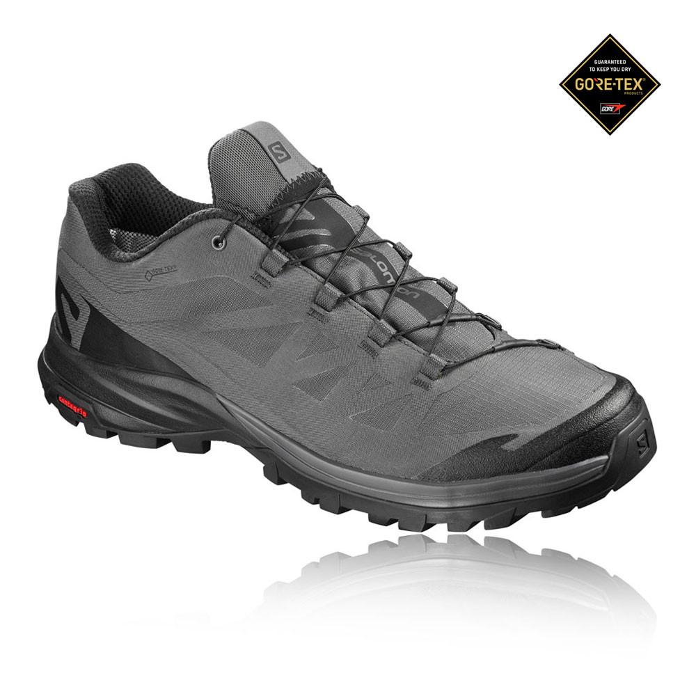8595f4a6 Detalles de Salomon Hombre Outpath Gore-tex Caminar Zapatos Gris Deporte  Exterior Calzado
