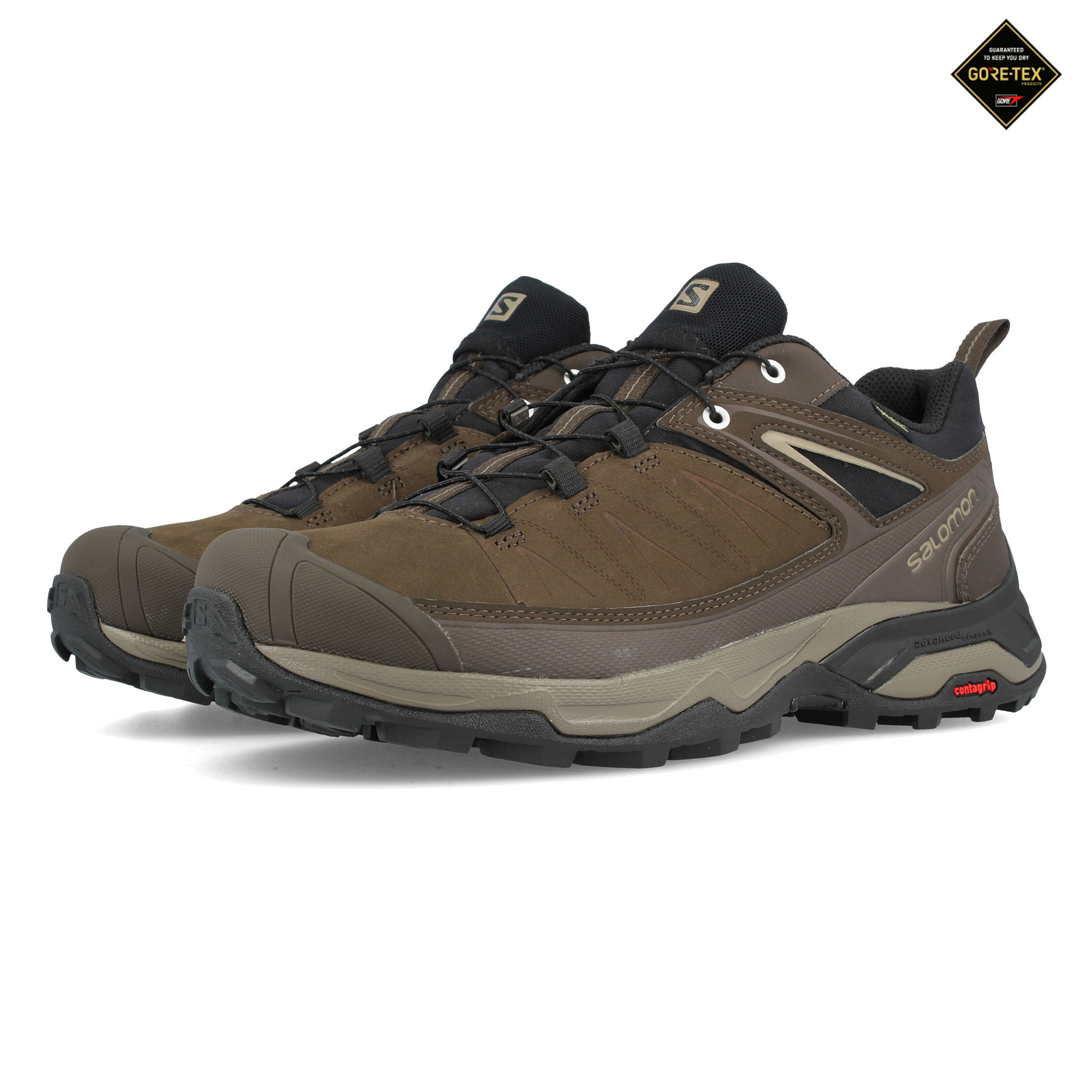9e2dab24d7 Details about Salomon Mens X Ultra 3 LTR GORE-TEX Walking Shoes Brown  Sports Outdoors Trainers