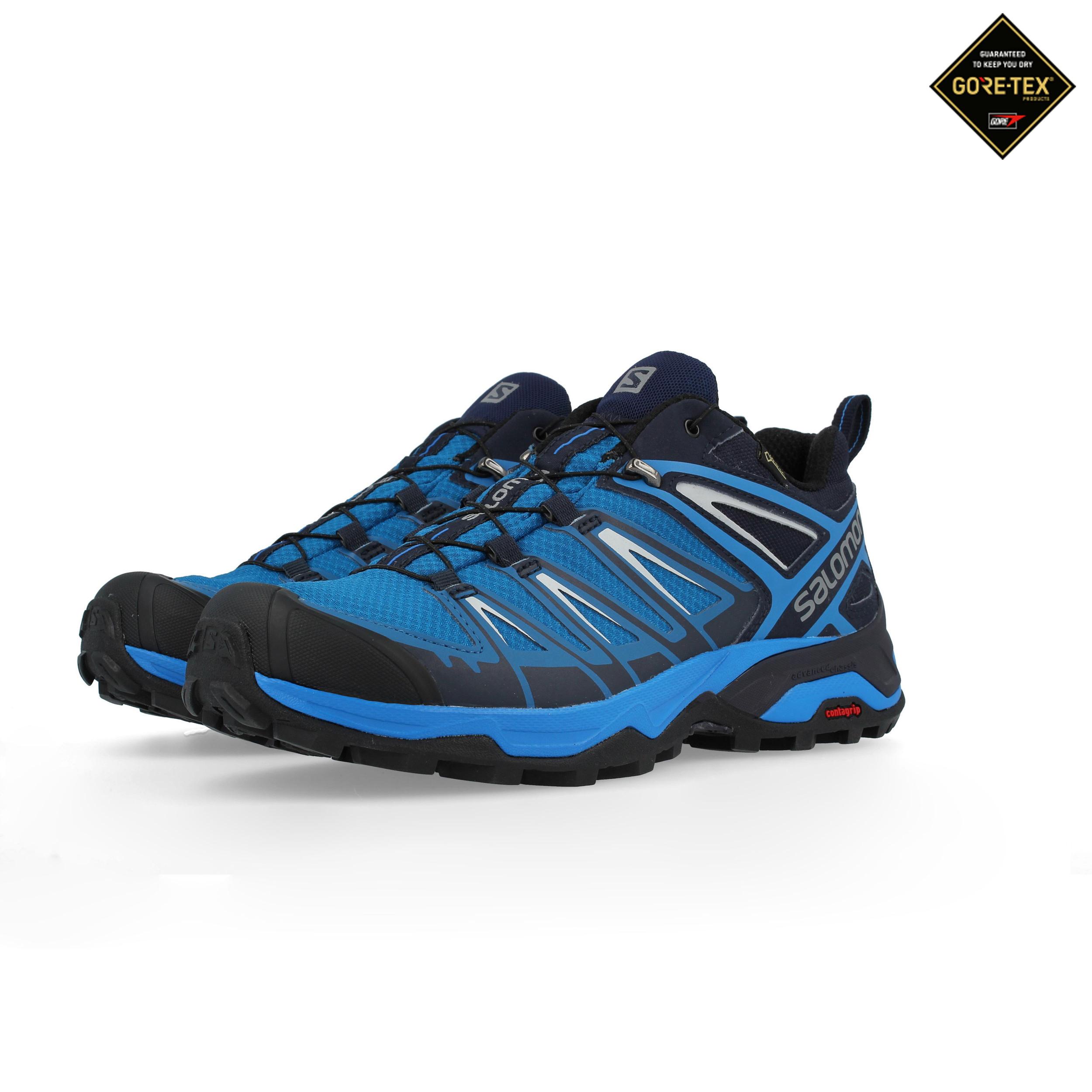 nouvelle arrivee 81fe8 408b4 Détails sur Salomon Femmes X Ultra 3 Gore-Tex Chaussure Marche Randonnée  Bleu Sport Baskets