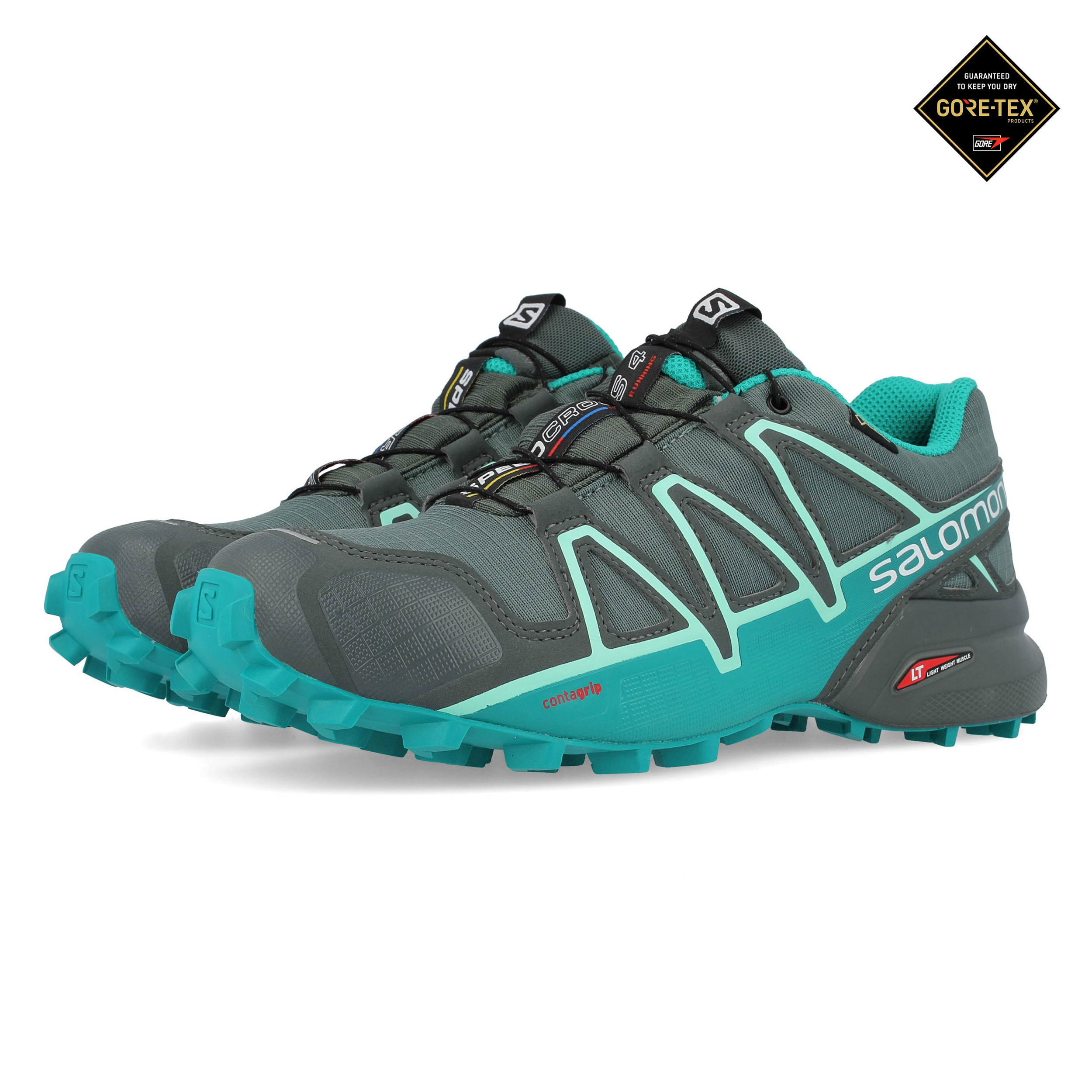 baskets pour pas cher c5a1c 0f839 Details about Salomon Womens Speedcross 4 GORE-TEX Trail Running Shoes  Trainers Sneakers Grey