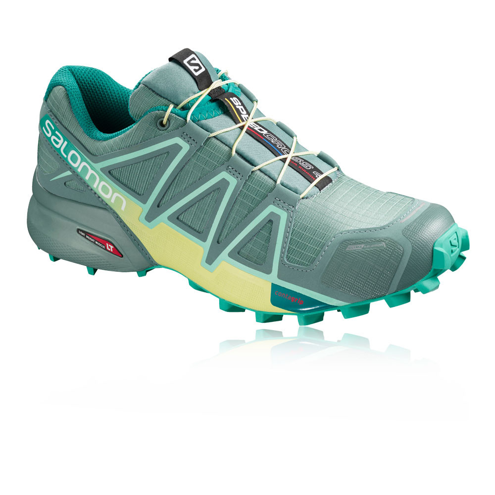 Salomon Womens Speedcross 4 CS Trail Running Shoes Trainers Sneakers Blue  Sports 9757cafc1193